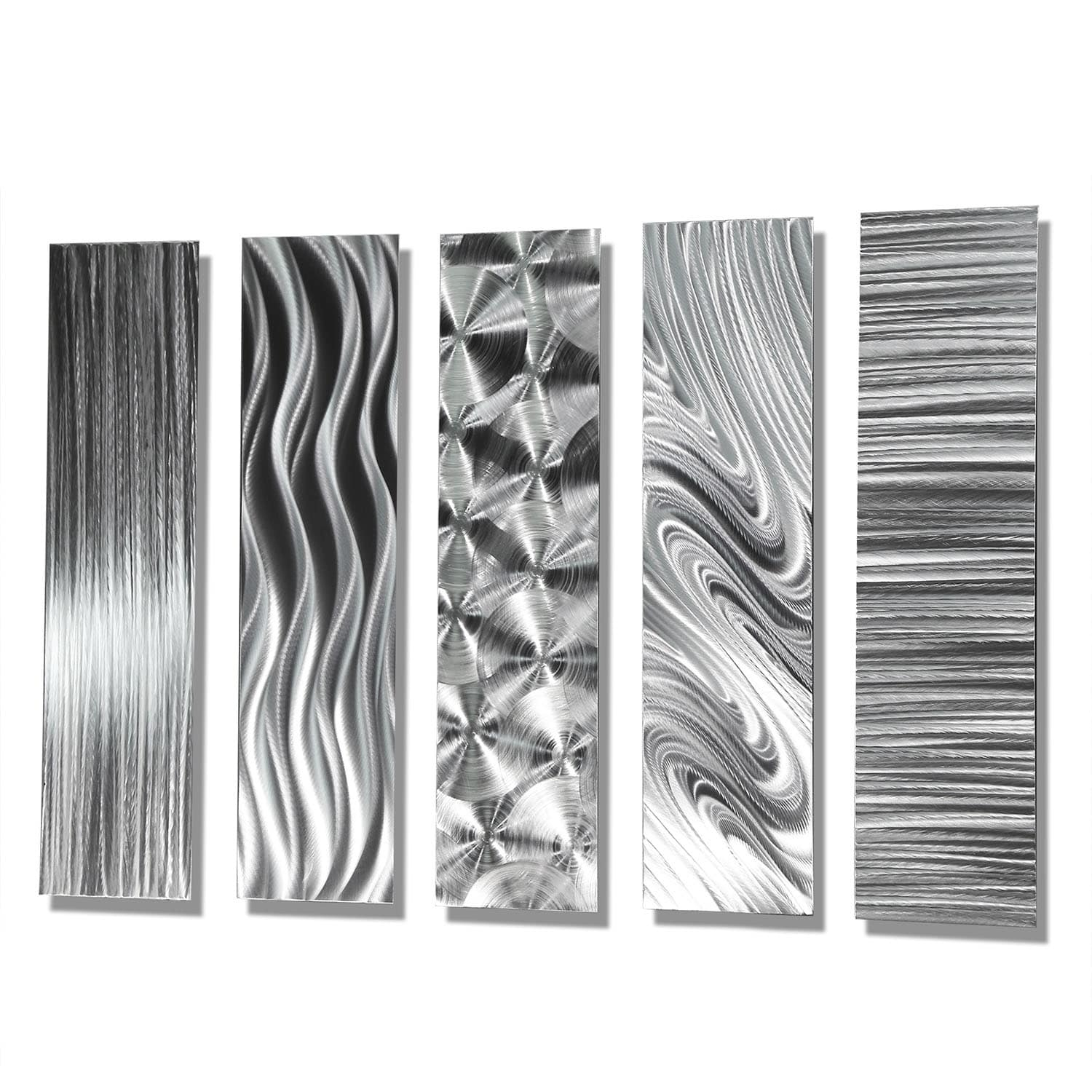 Statements2000 Set Of 5 Silver Metal Wall Art Accentsjon Allen For Newest Wall Art Accents (View 14 of 15)