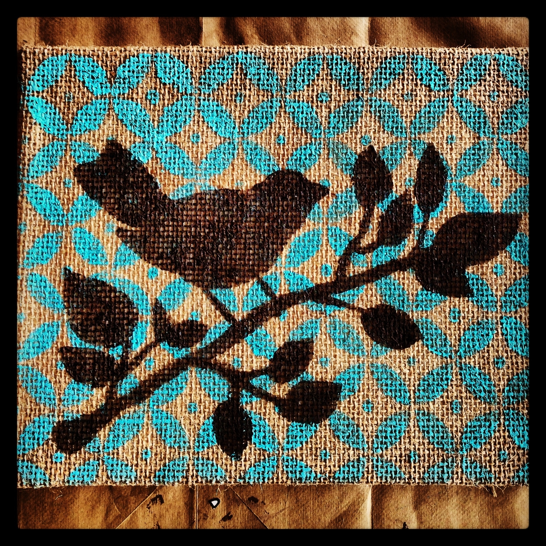 Stenciled Burlap Canvas Art | My Pinspiration Projects | Pinterest With Most Recently Released Burlap Fabric Wall Art (View 12 of 15)