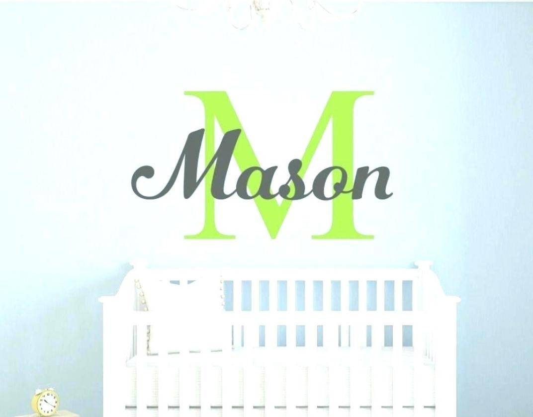 Sticker : Nursery Canvas Wall Art Boy Nursery Canvas Wall Art Girl In Most Recently Released Baby Names Canvas Wall Art (View 6 of 15)