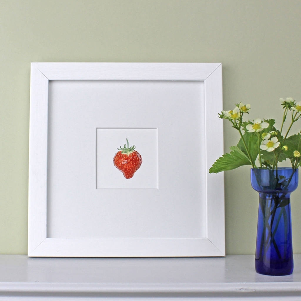 Strawberry Framed Botanical Art Printthe Botanical Concept For Recent Framed Botanical Art Prints (View 10 of 15)