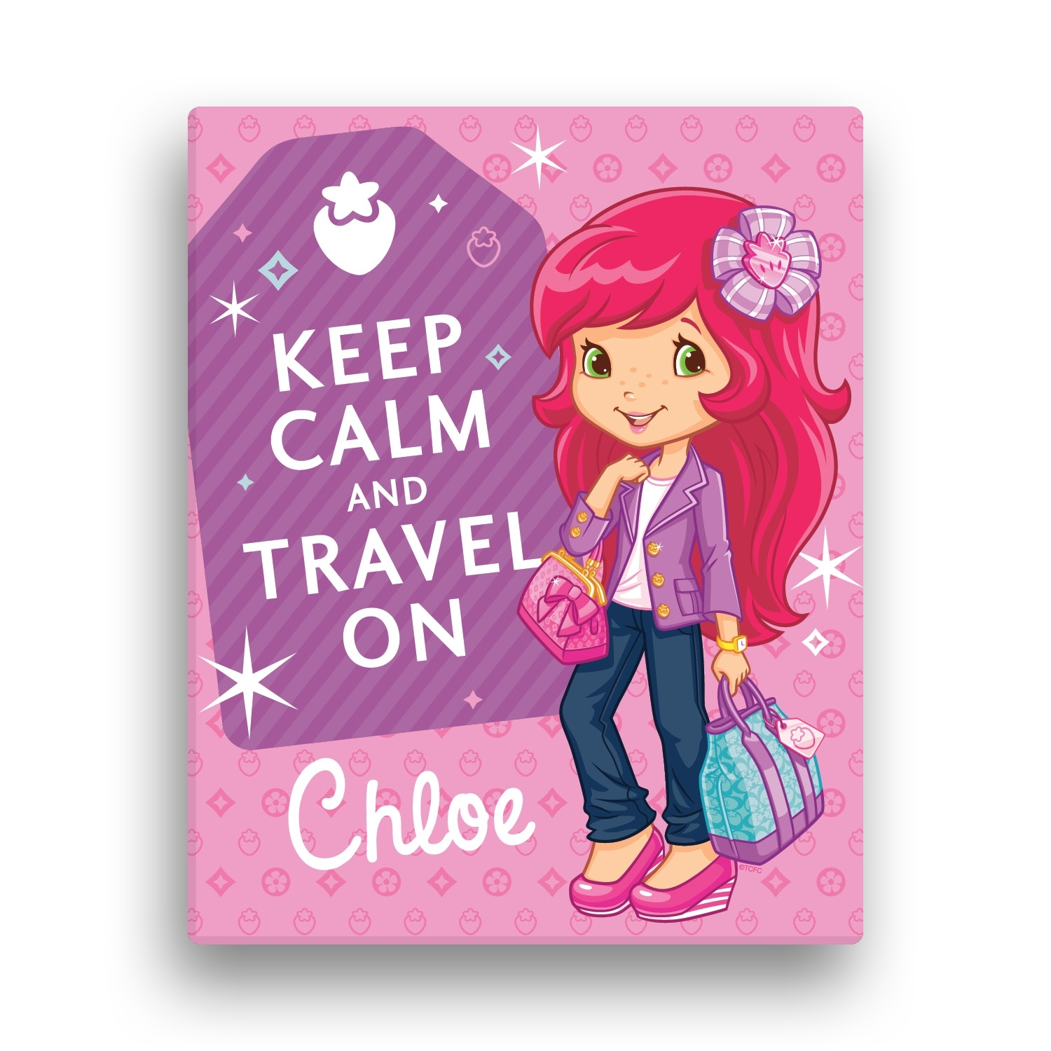 Strawberry Shortcake Keep Calm 16 X 20 Canvas Wall Art | Tv's Toy Box Within Newest Keep Calm Canvas Wall Art (Gallery 7 of 15)