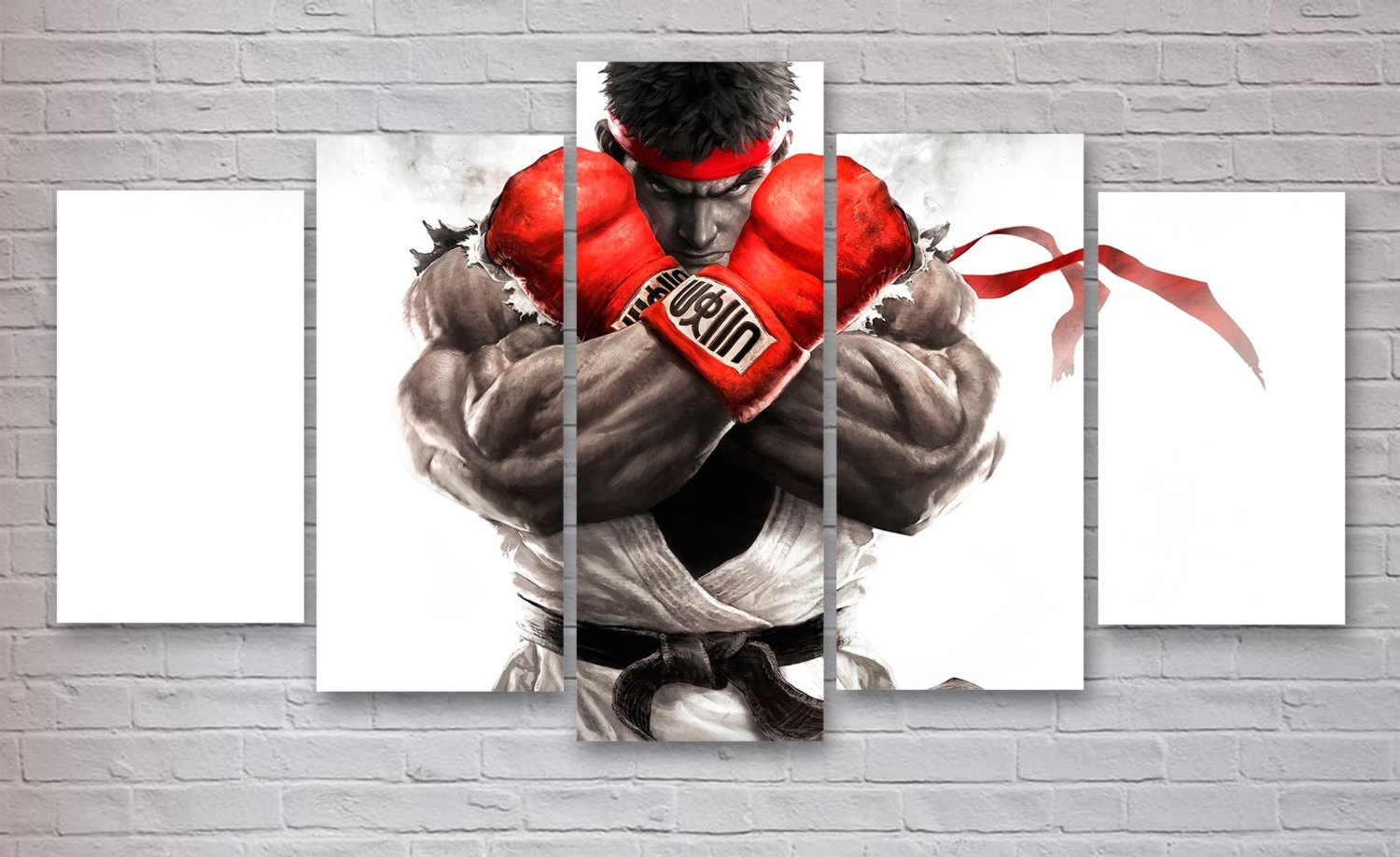 Street Fighter Gaming 5 Piece / Panel Canvas – Wall Art – Office For Most Recent Gaming Canvas Wall Art (Gallery 12 of 15)