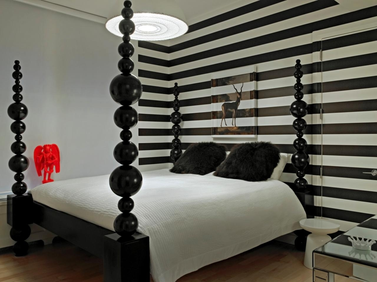 Striped Wall Accent With Horizontal Black White Also Master In Current Horizontal Stripes Wall Accents (View 14 of 15)