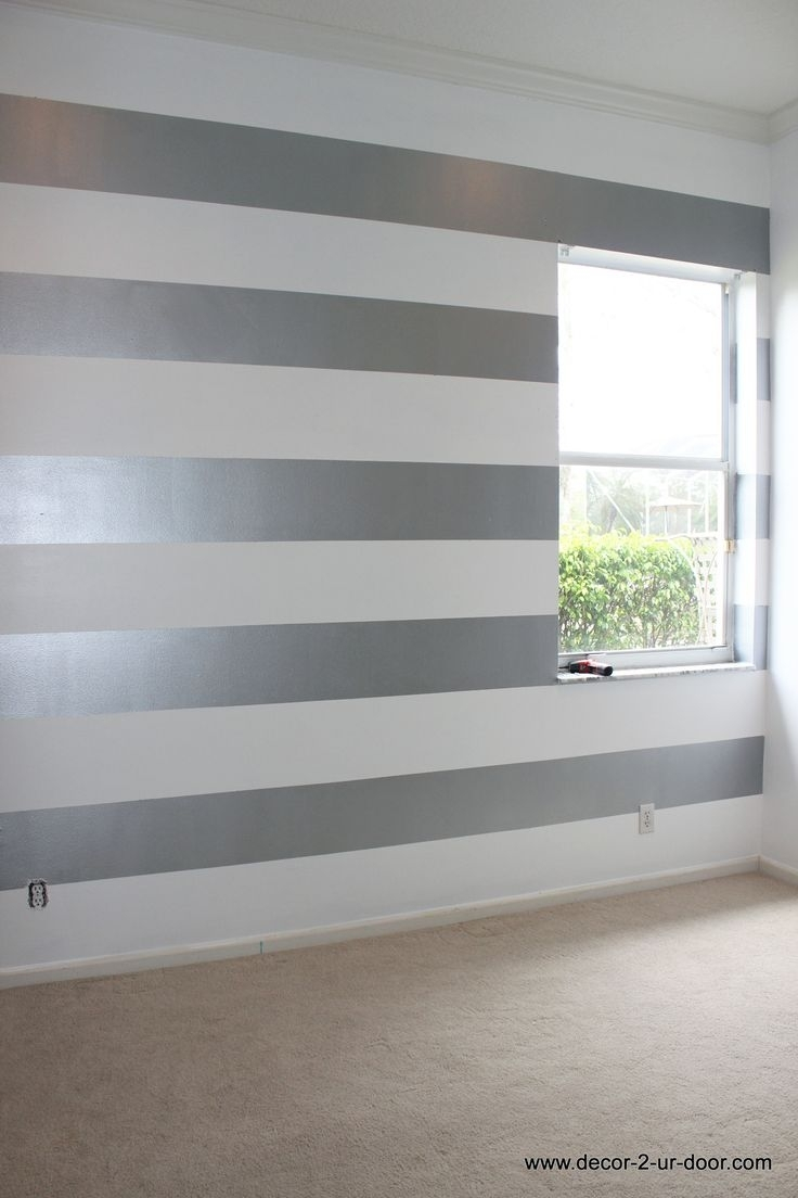 Striped Walls Bedroom Ideas Painting Vertical Stripes On Wall With Regard To Current Horizontal Stripes Wall Accents (Gallery 9 of 15)
