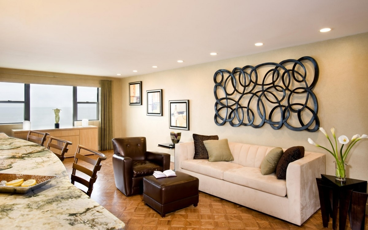 Stylish Living Room Wall Decor Pictures : Good Living Room Wall In Most Up To Date Brown Furniture Wall Accents (Gallery 14 of 15)