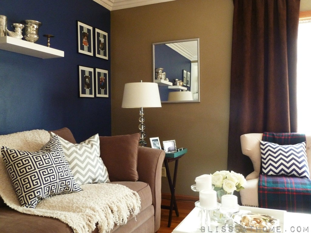 Subtle Color | Favorite Places & Spaces | Pinterest | Navy Walls Intended For Recent Brown Wall Accents (View 13 of 15)
