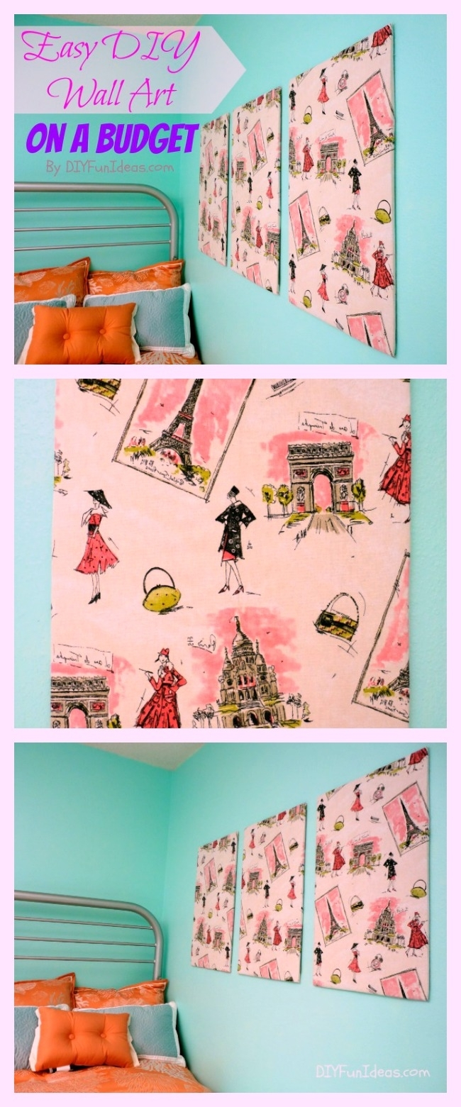 Super Easy Fabric Panel Diy Wall Art On A Budget – Do It Yourself Throughout Newest Diy Fabric Wall Art Panels (Gallery 7 of 15)
