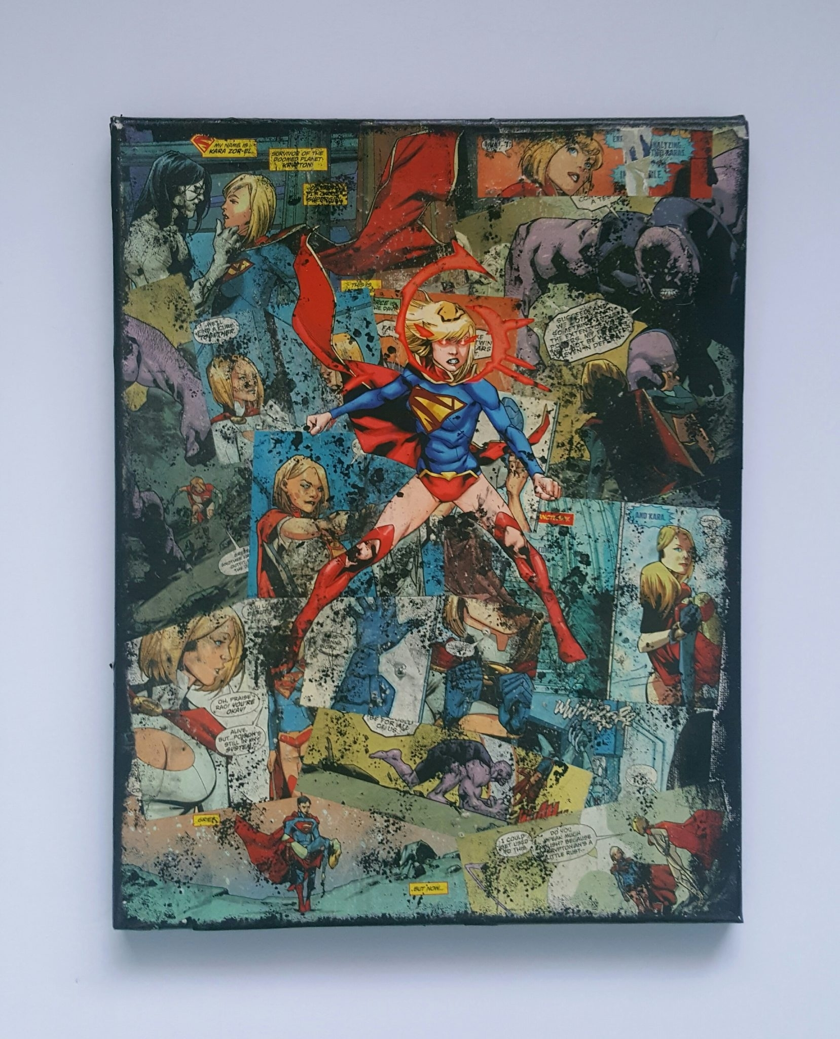 Supergirl – Premium Quality Dc Graphic Canvasstarkematter With Regard To Recent Modern Textile Wall Art (View 12 of 15)