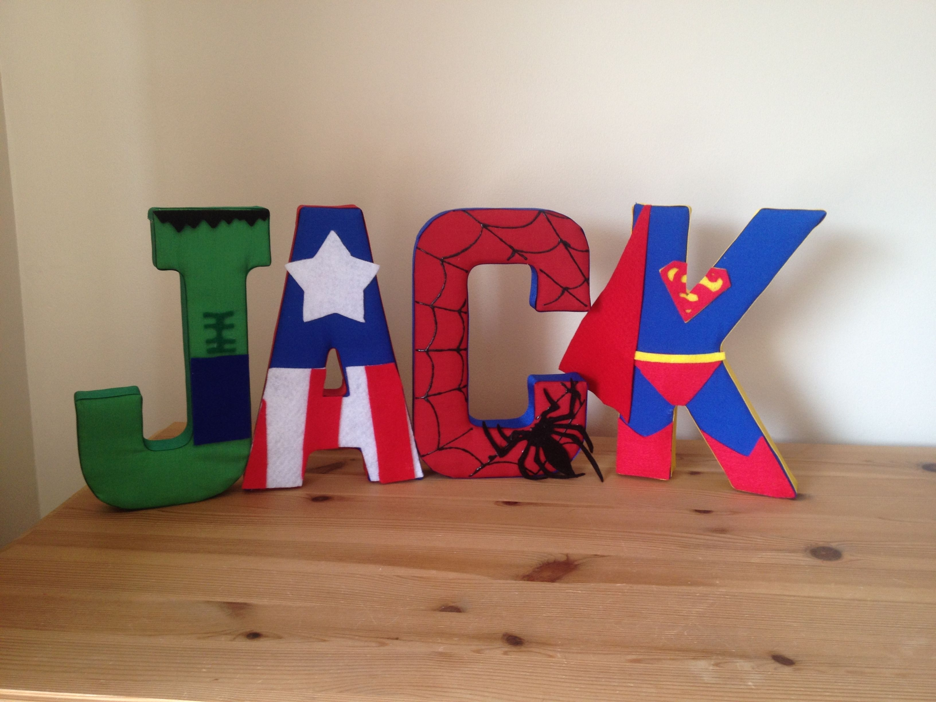 Superhero Fabric Wall Letters – Could Make All Star Wars For For Newest Fabric Wall Art Letters (Gallery 9 of 15)