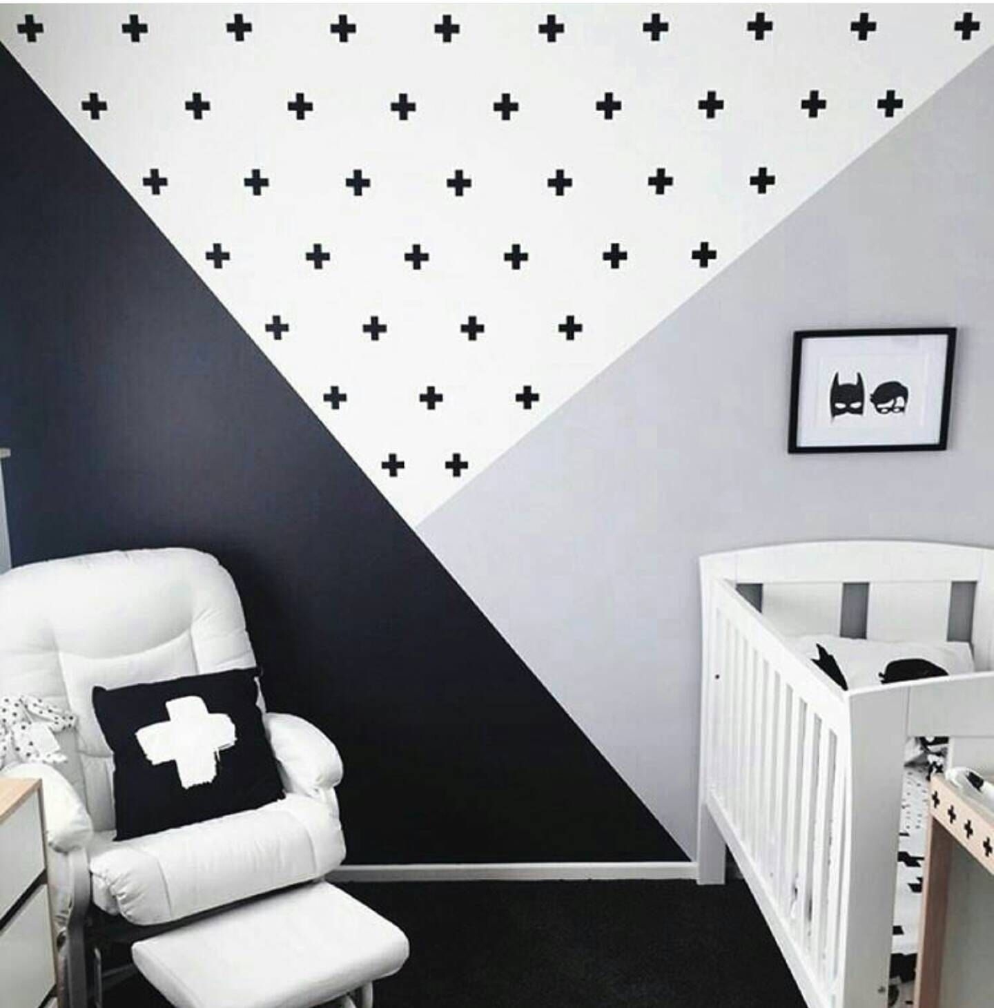 Swiss Cross Wall Decals, Plus Sign Wall Stickers, Geometric Accent With Regard To Newest Geometric Shapes Wall Accents (Gallery 13 of 15)