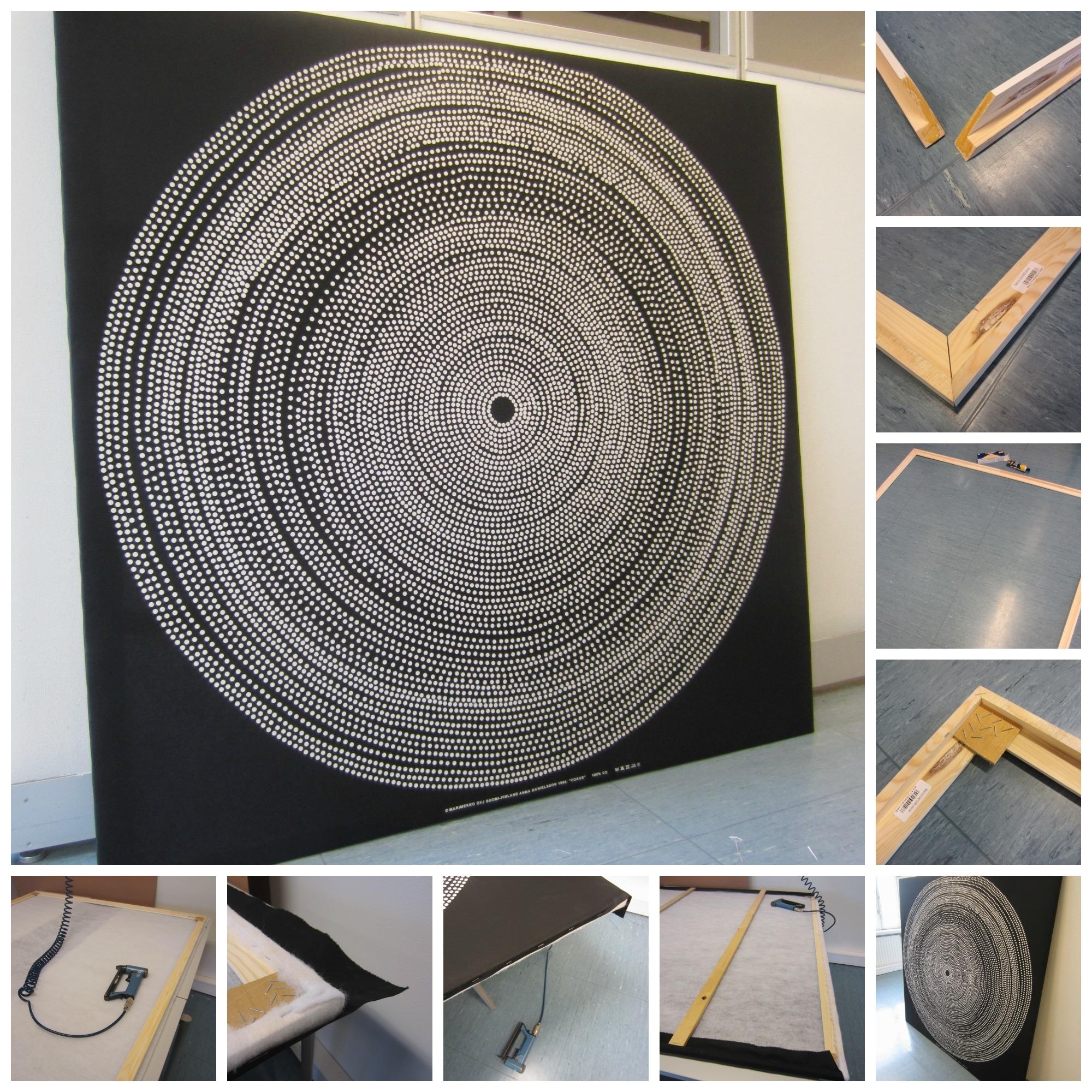 Tee Se Itse Naisen Sisustusblogi: Fabric Board Wall Out Of In 2018 Marimekko 'karkuteilla' Fabric Wall Art (Gallery 11 of 15)