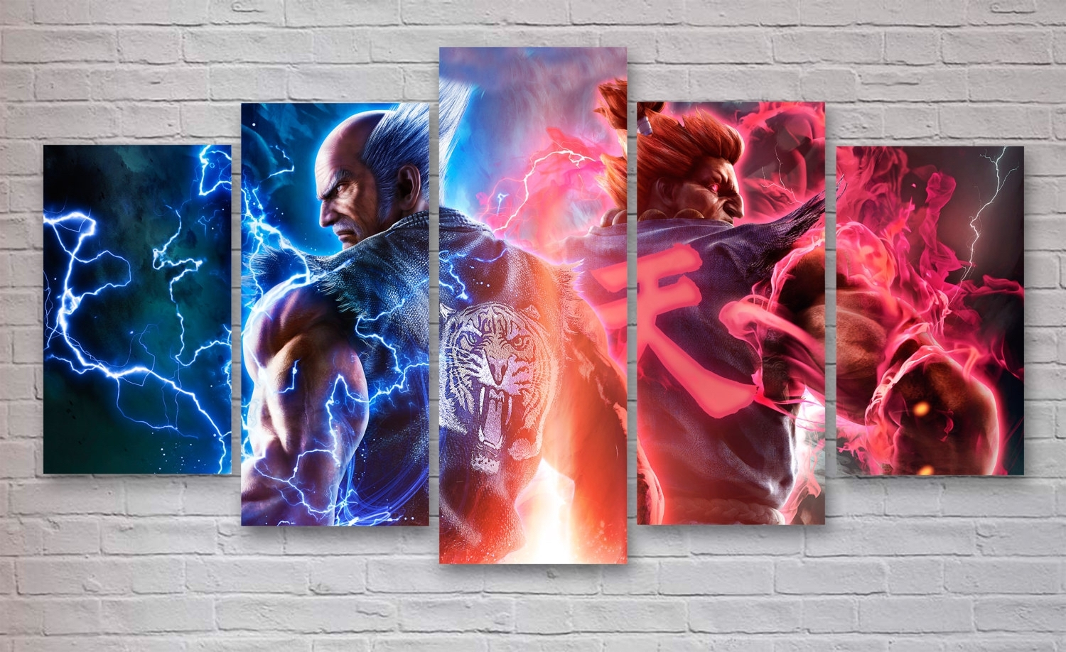 Tekken 7 Gaming 5 Panel / Piece Canvas – Wall Art – Office In 2017 Gaming Canvas Wall Art (Gallery 4 of 15)