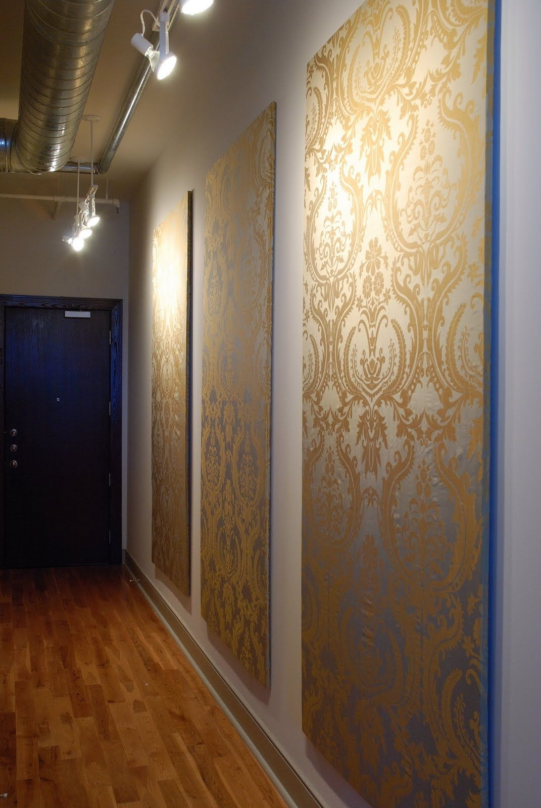 Temporary Wall Coverings: 7 Great Ideas For When You Can't Paint Pertaining To 2017 Damask Fabric Wall Art (View 13 of 15)