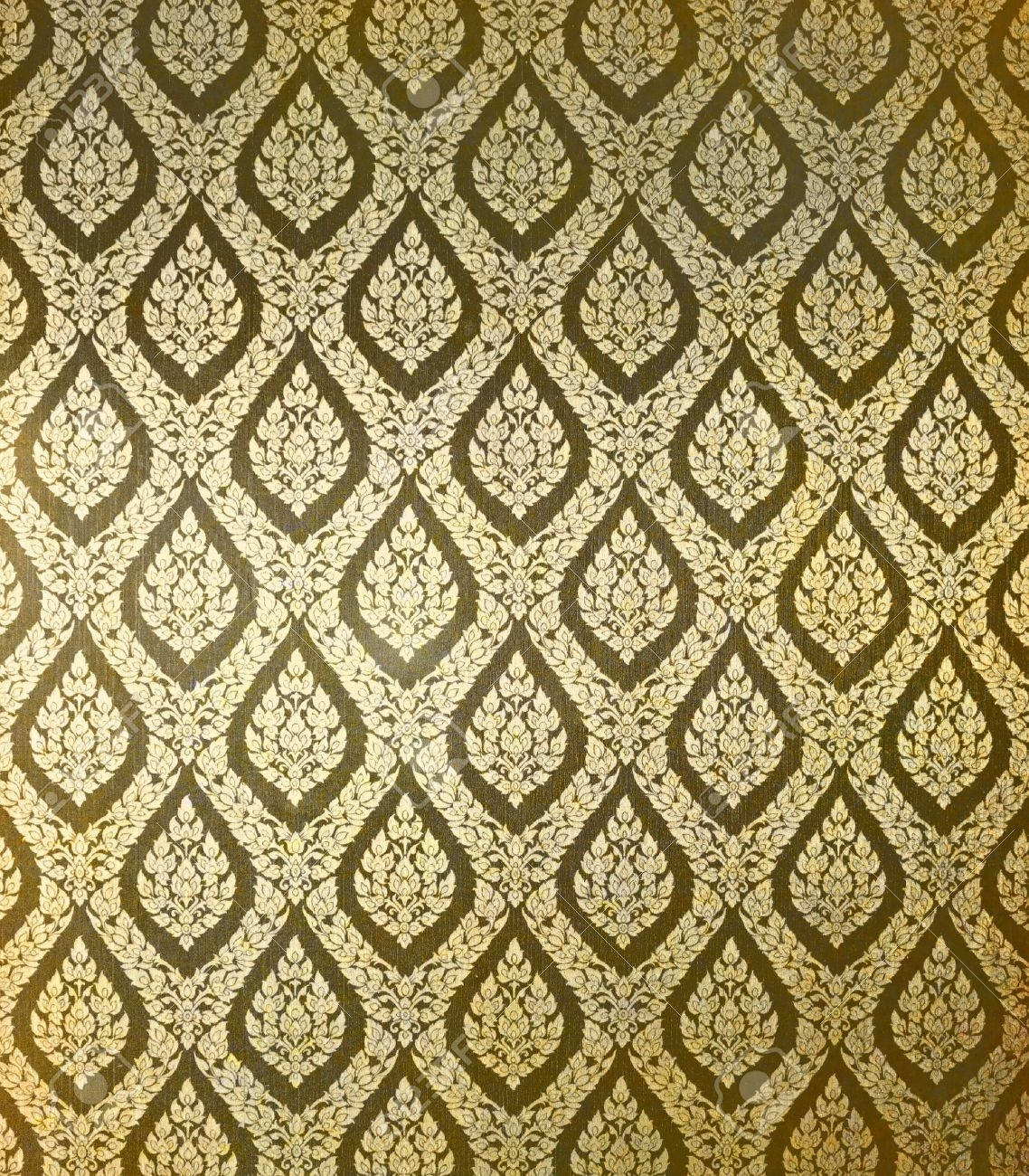 Thai Art Wall Pattern For Background Stock Photo, Picture And Regarding Best And Newest Thai Fabric Wall Art (View 12 of 15)