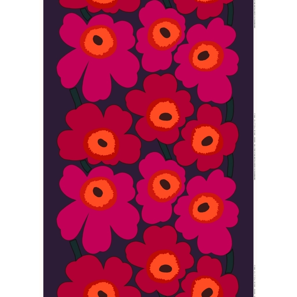 The Amazing Marimekko Unikko Wall Art For Home | Wall Art | Art With Regard To Most Recent Marimekko 'kevatjuhla' Fabric Wall Art (View 11 of 15)