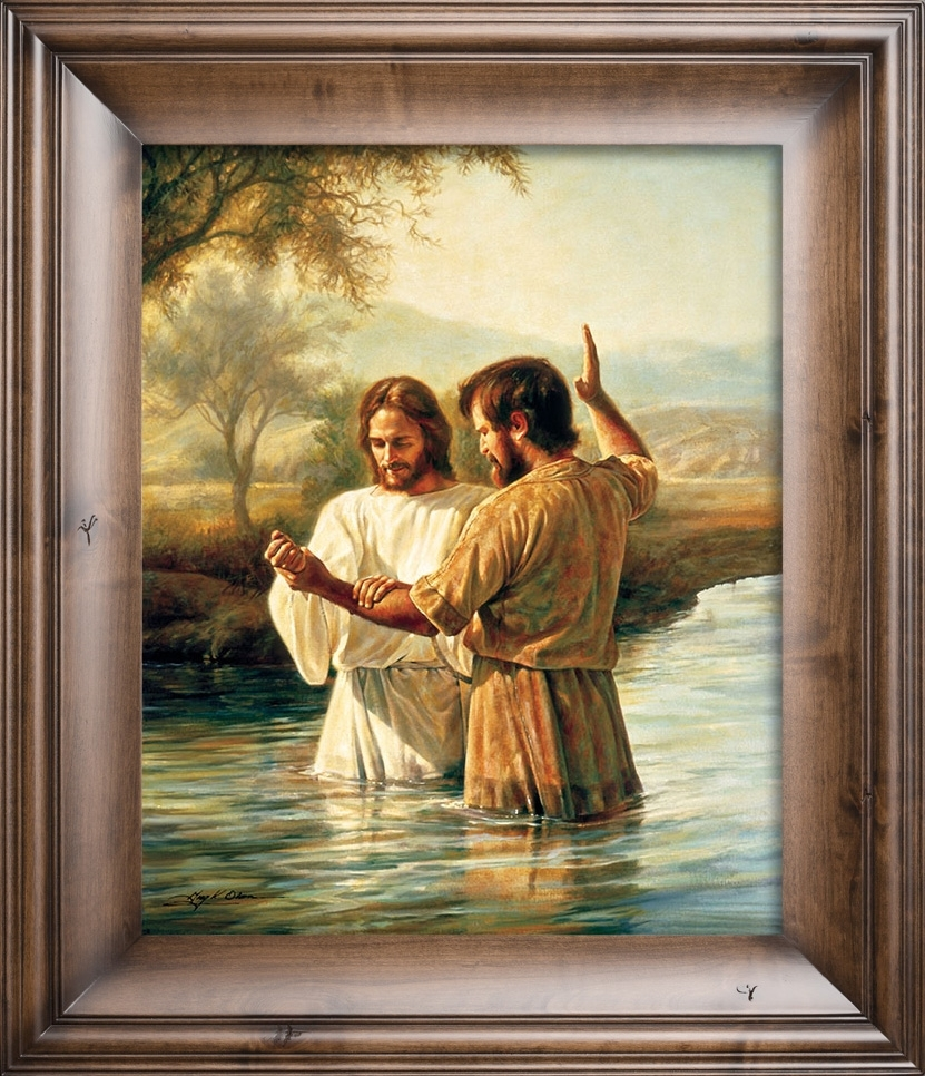 The Baptism – Christian Artgreg Olsen In Most Current Christian Framed Art Prints (View 11 of 15)