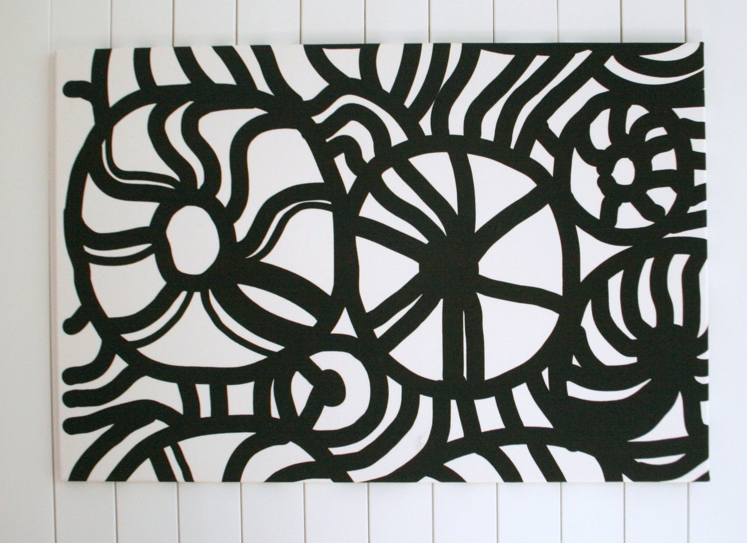 The Best Abstract Fabric Wall Art For Most Current Black And White Fabric Wall Art (View 13 of 15)