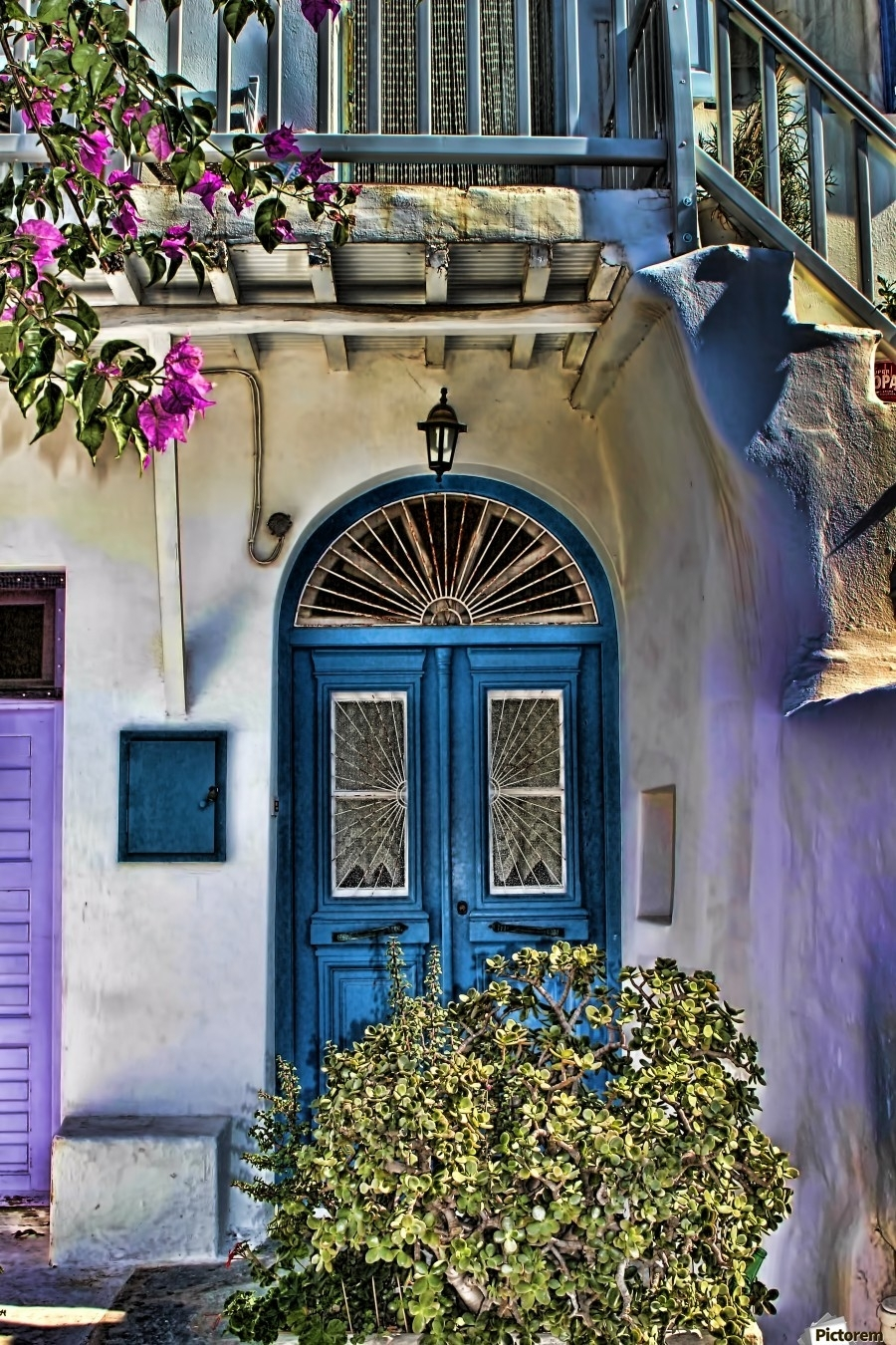 The Blue Door Santorini – Tom Prendergast Canvas Within Most Recently Released Greece Canvas Wall Art (View 14 of 15)