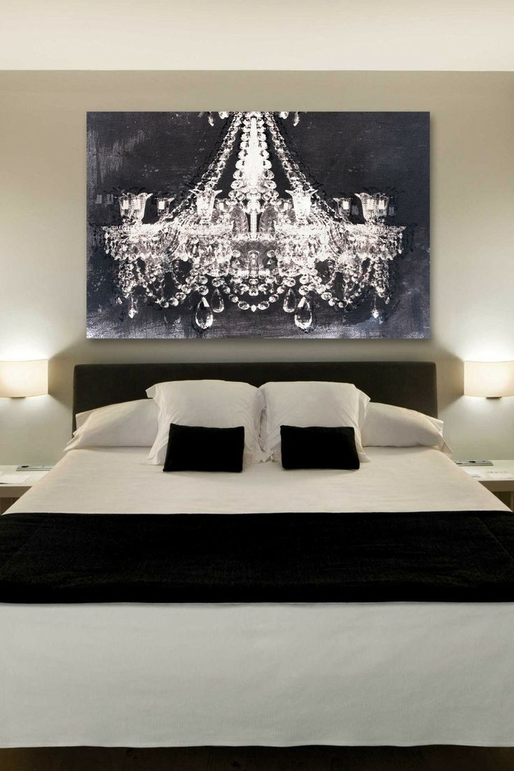 Image gallery of chandelier canvas wall art view 6 of 15 photos the chandelier art gives such a romantic touch to this bedroom inside best and newest chandelier arubaitofo Image collections