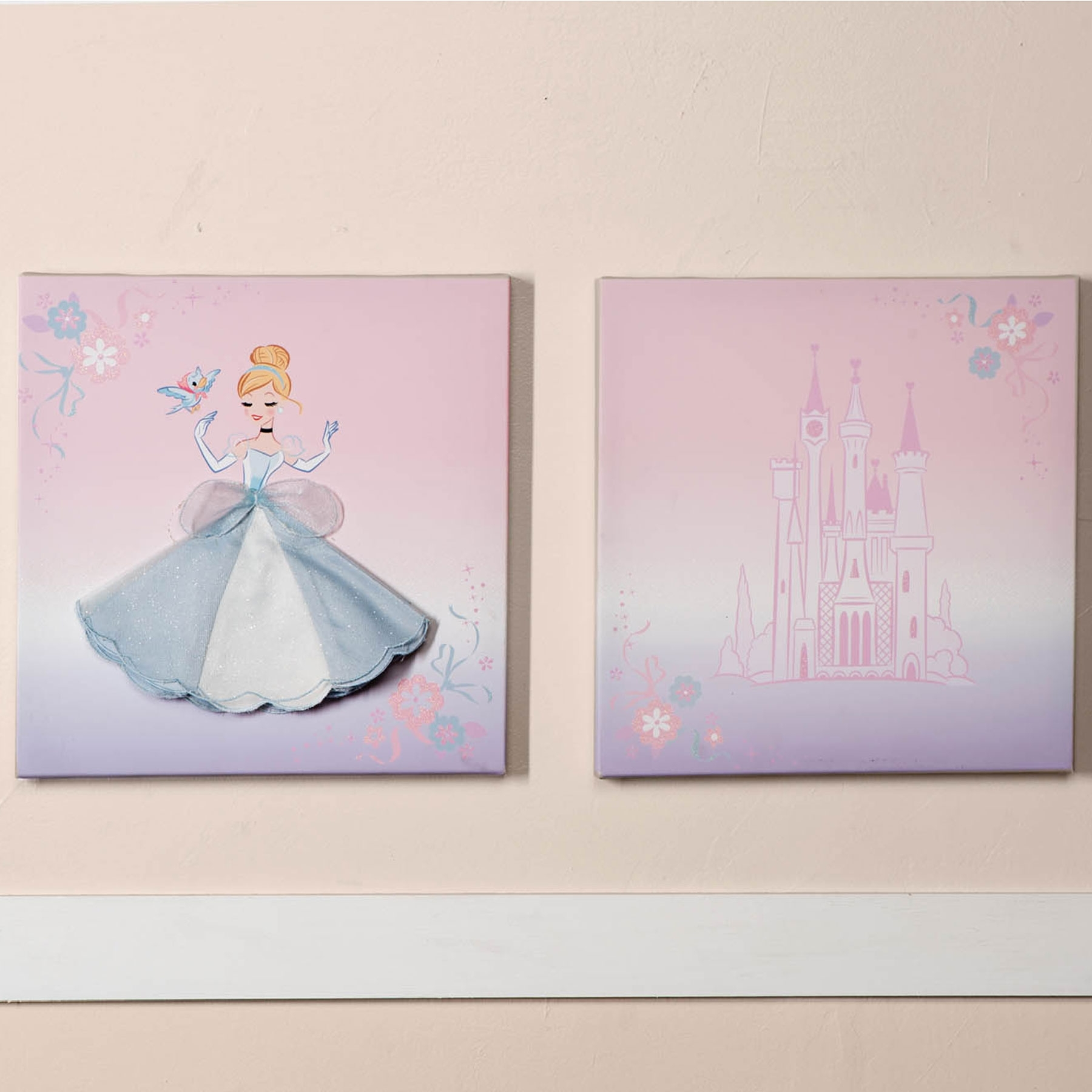 The Cinderella Crib Collection Is Ideal For Any Little Princess Within Most Popular Baby Room Canvas Wall Art (View 14 of 15)