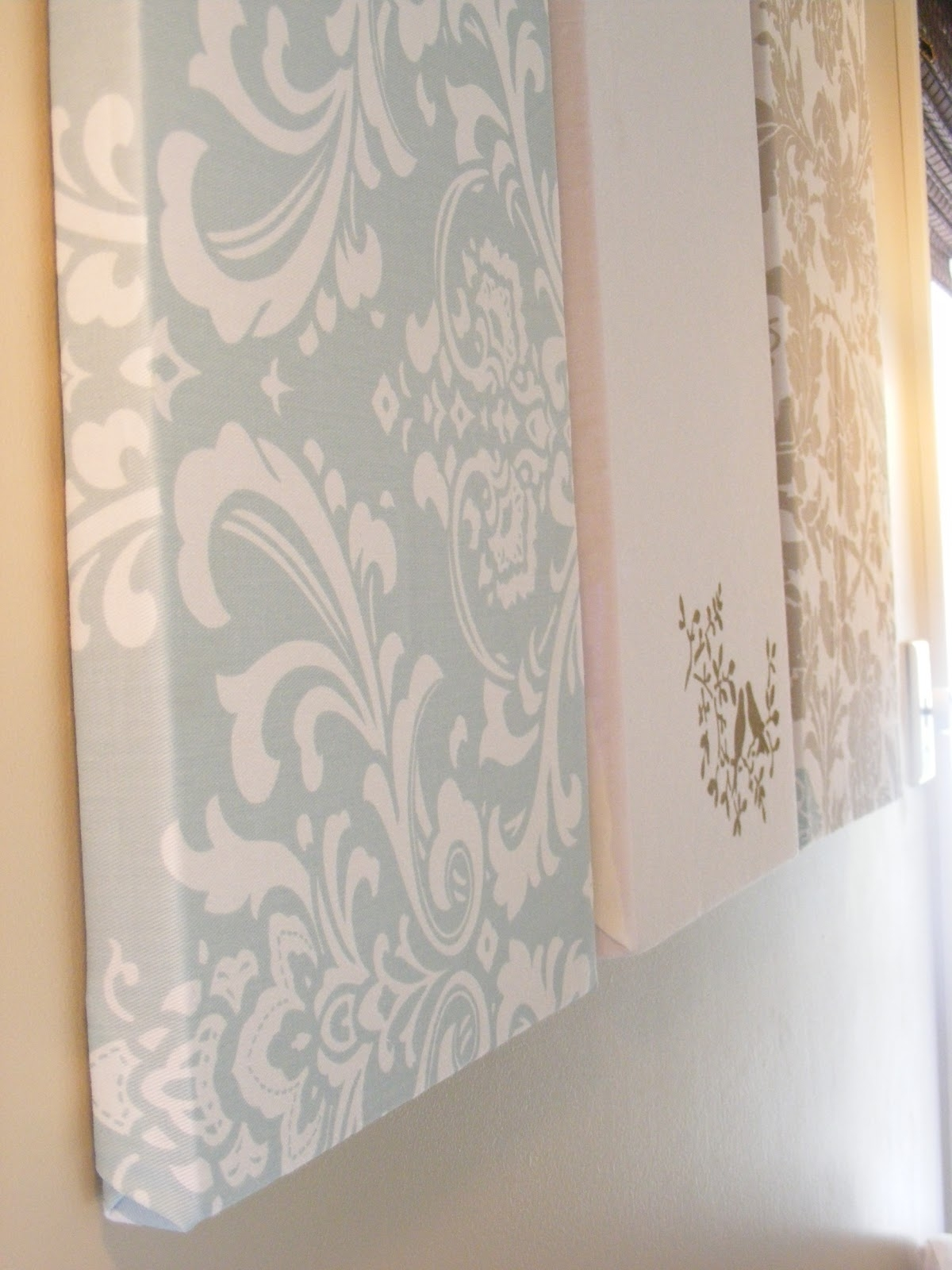 The Complete Guide To Imperfect Homemaking: Simple, Thrifty Diy Art Pertaining To Most Recently Released Damask Fabric Wall Art (View 5 of 15)