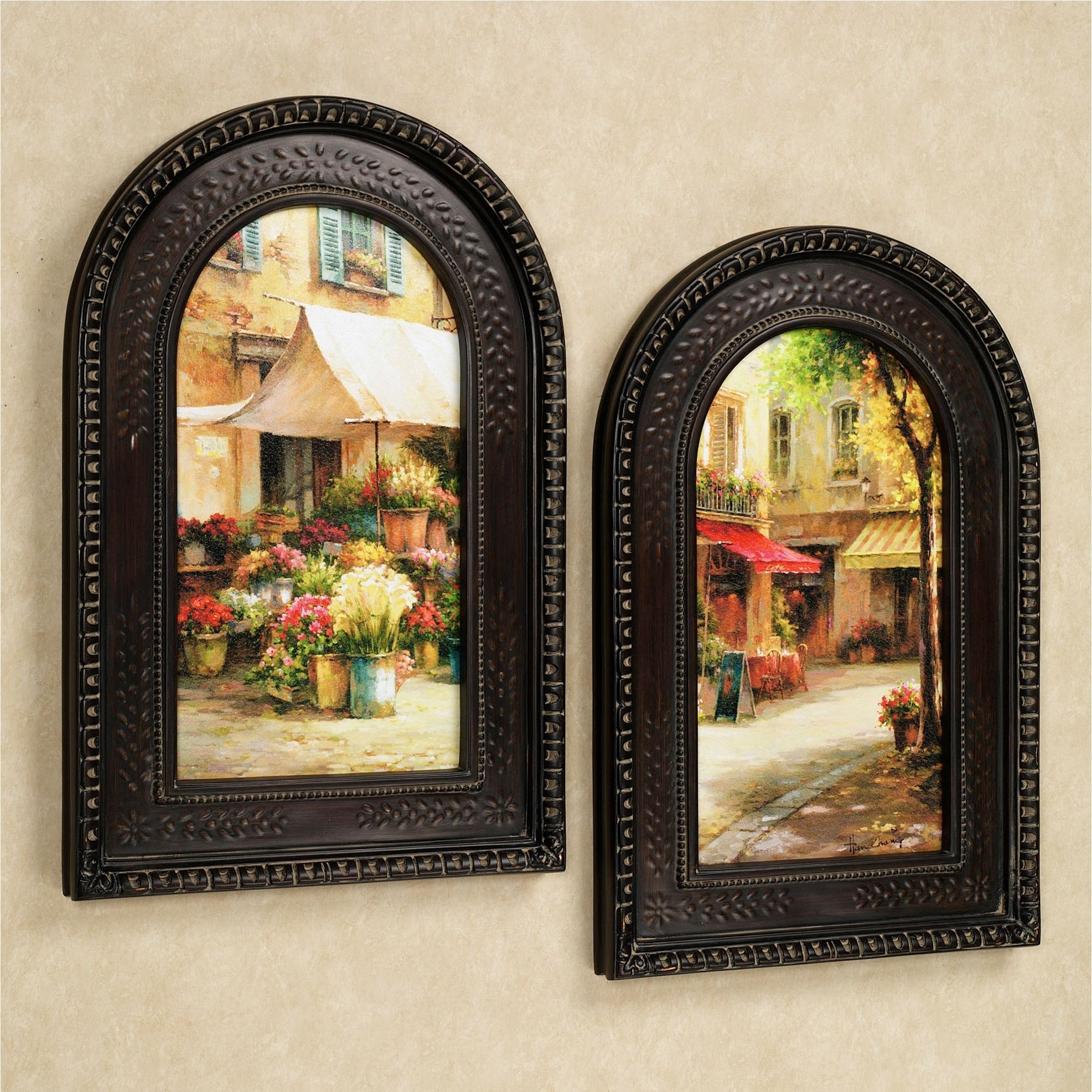 The Flower Market Arched Framed Wall Art Set Intended For 2017 Framed Art Prints Sets (View 15 of 15)