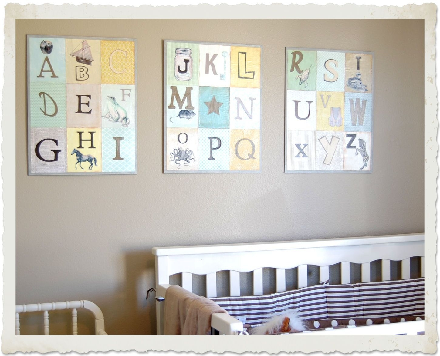 The Graphics Fairy – Diy: Nursery Room Wall Decor | Arts & Crafts Within Most Recent Diy Wall Accents (View 8 of 15)