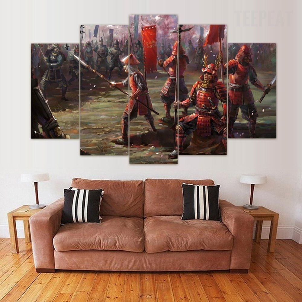 "The Last Of Us"" Samurai – 5 Piece Canvas Painting #prints Regarding Newest Calgary Canvas Wall Art (View 12 of 15)"