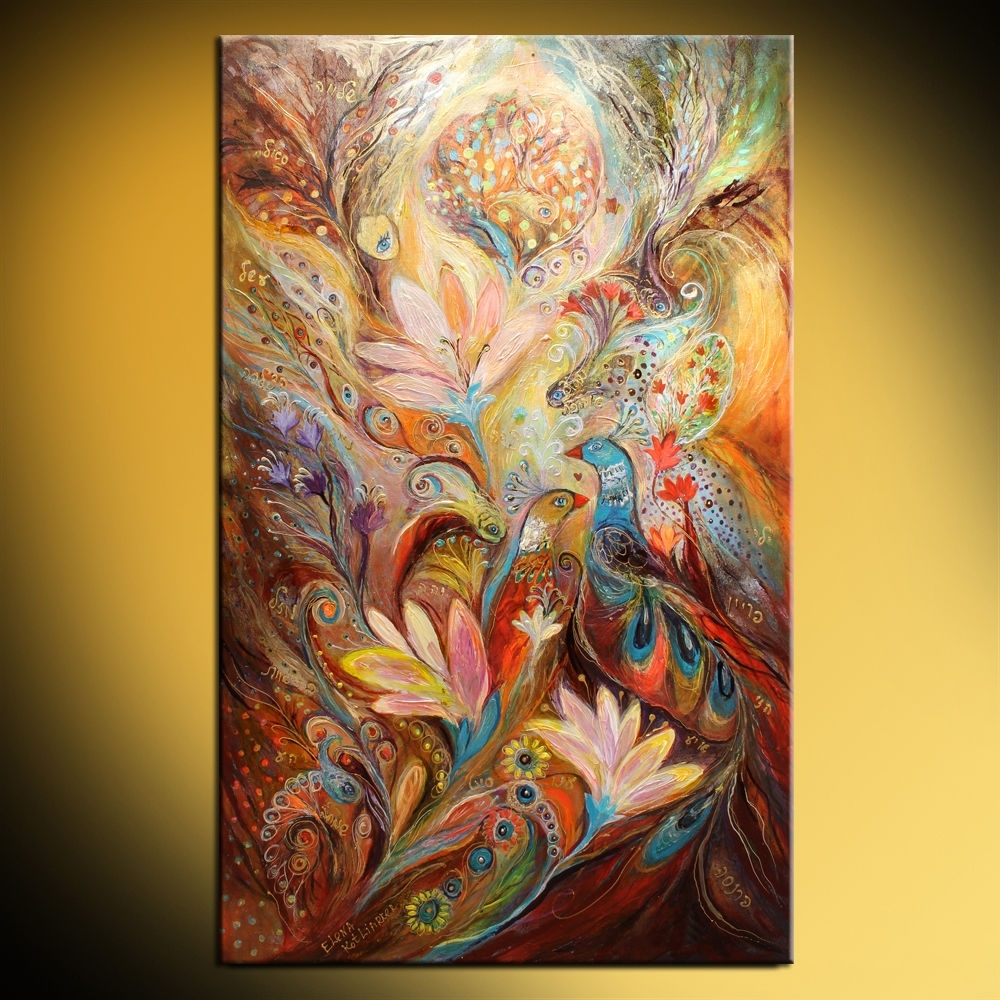 The Lilies And Bell Flowers (Elena Kotliarker) Within Newest Jewish Canvas Wall Art (View 6 of 15)