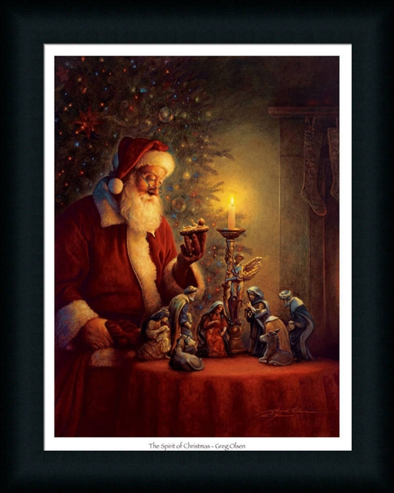 The Spirit Of Christmas Nativity Scene Framed Art Print Wall Décor With Regard To 2018 Christmas Framed Art Prints (View 14 of 15)