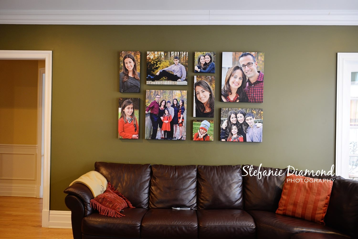 This Grouping Is Composed Of 2 10X10, 3 10X20, 2 16X20, 2 20X24 Throughout 2018 Groupings Canvas Wall Art (View 11 of 15)