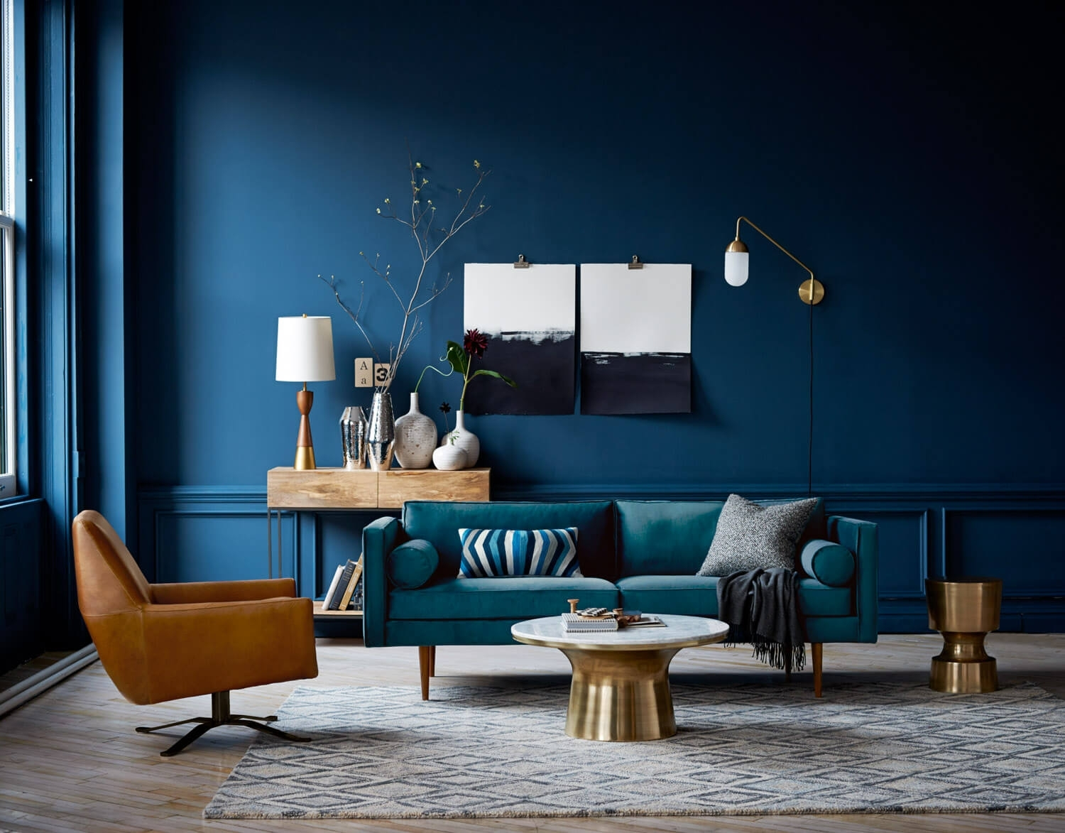 This Is How To Decorate With Blue Walls | Nonagon.style For 2018 Blue Wall Accents (Gallery 9 of 15)