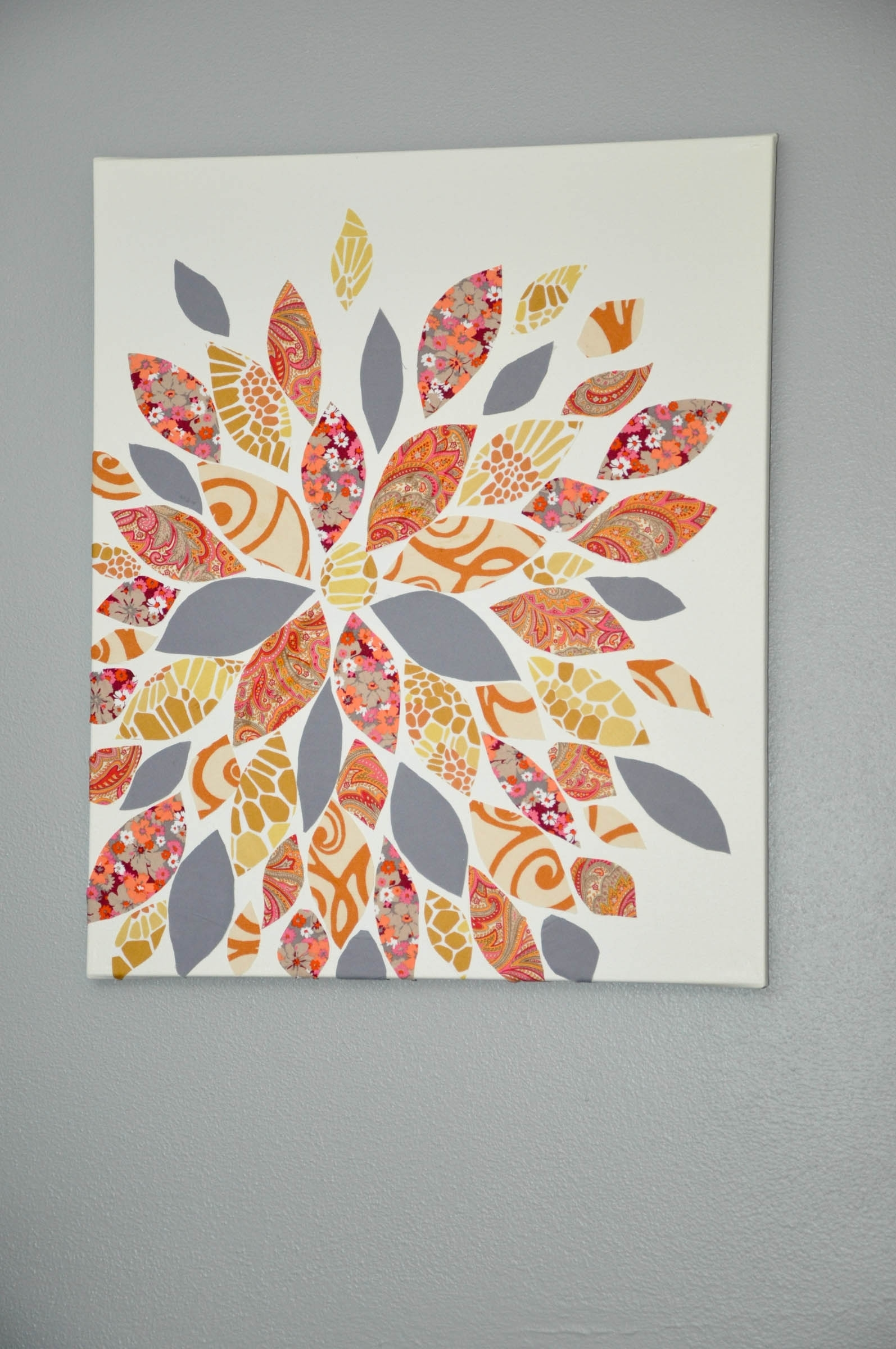 This Is So Cute And So Easy! Gosh I Can't Wait To Own My Own Within Most Current Fabric Flower Wall Art (View 14 of 15)