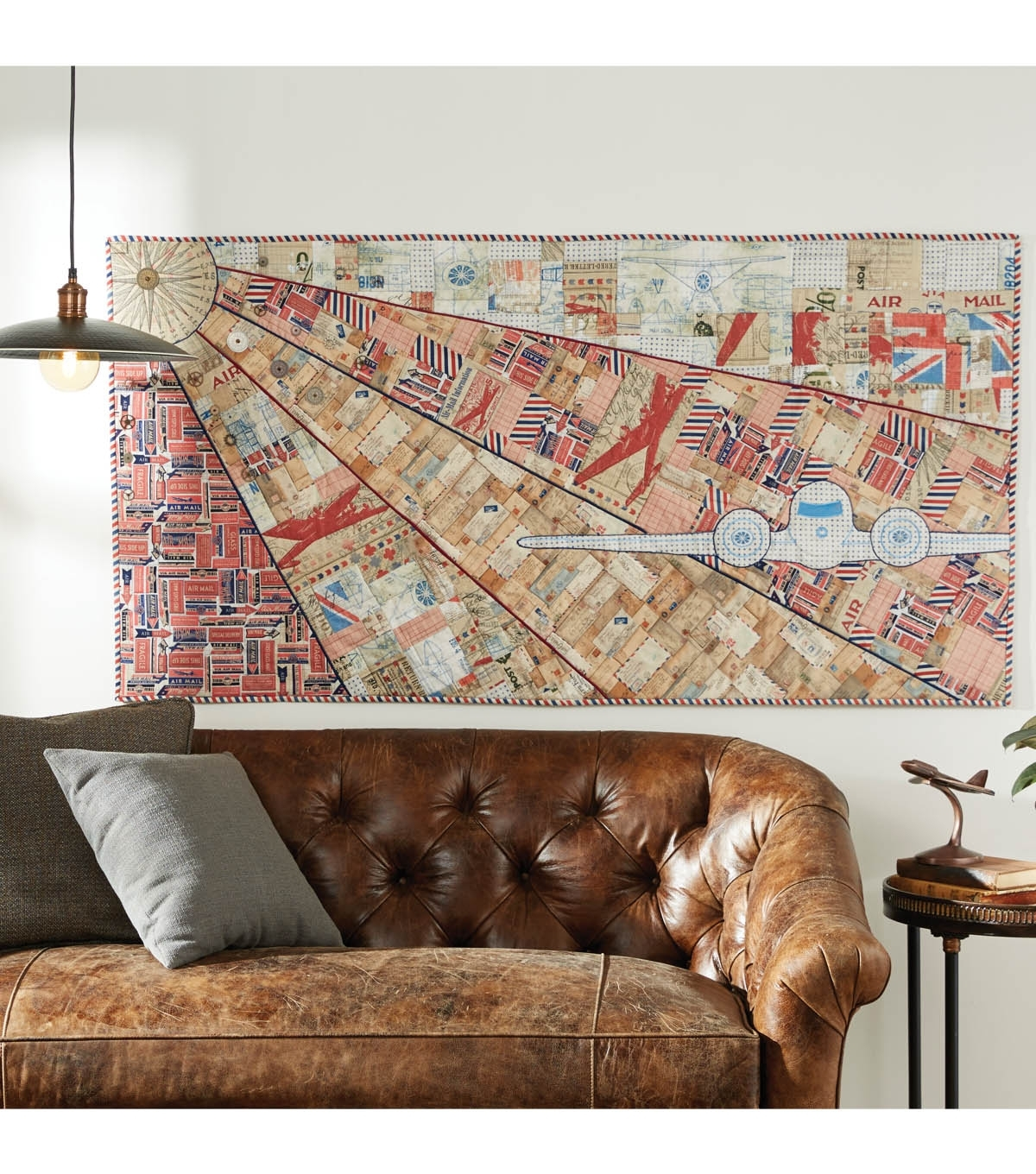 Tim Holtz Airplane Fabric Wall Hanging | Joann With Regard To Most Current Joann Fabric Wall Art (View 8 of 15)