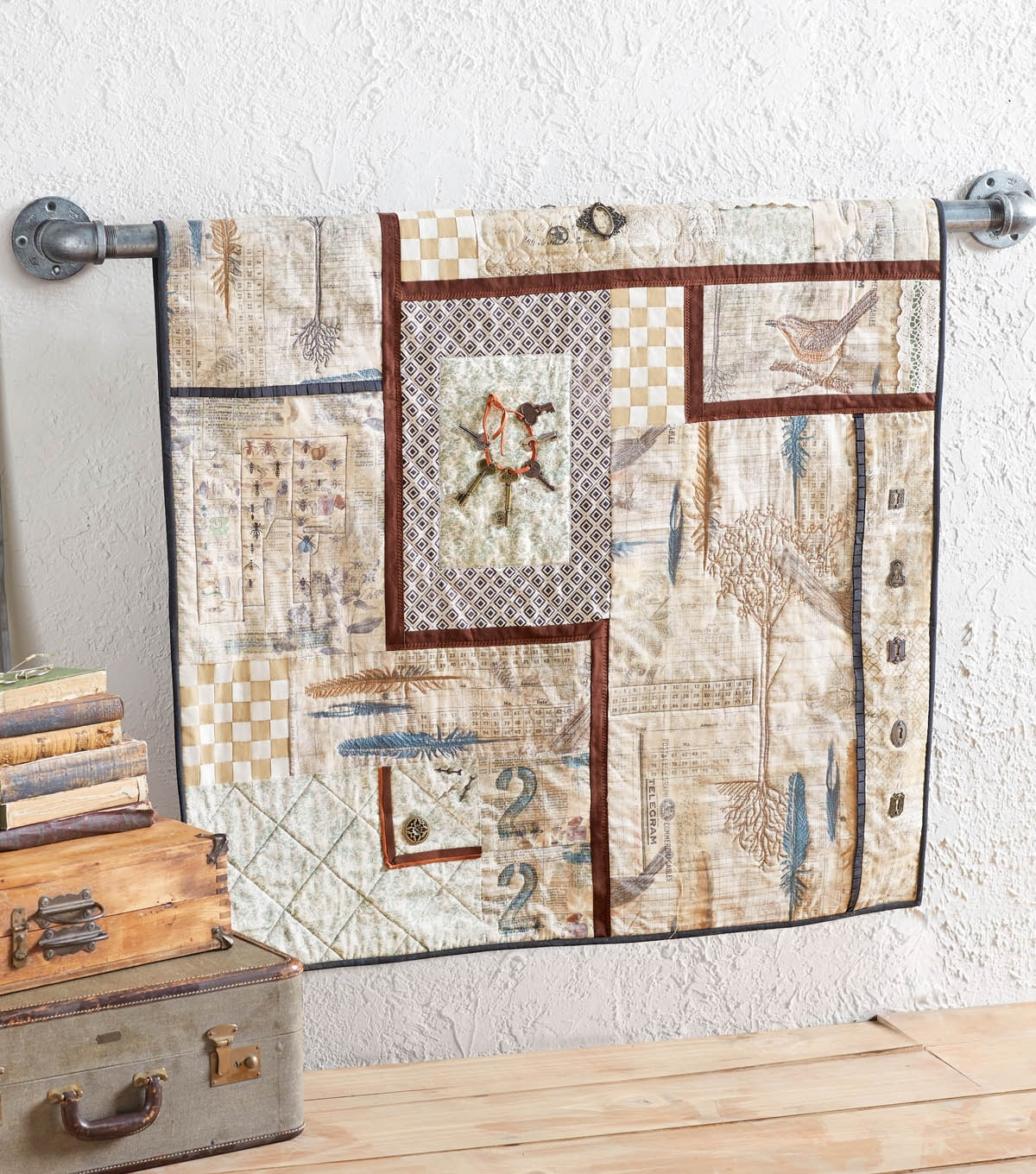 Tim Holtz Fabric Wall Hanging | Joann In Most Up To Date Joann Fabric Wall Art (View 4 of 15)