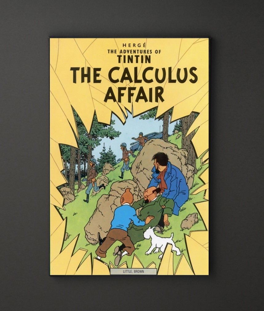 Tin Tin Calculus Affair A4 Framed/box Canvas A4 A3 A2 A1 Gift For Most Recent Leadgate Canvas Wall Art (View 14 of 15)
