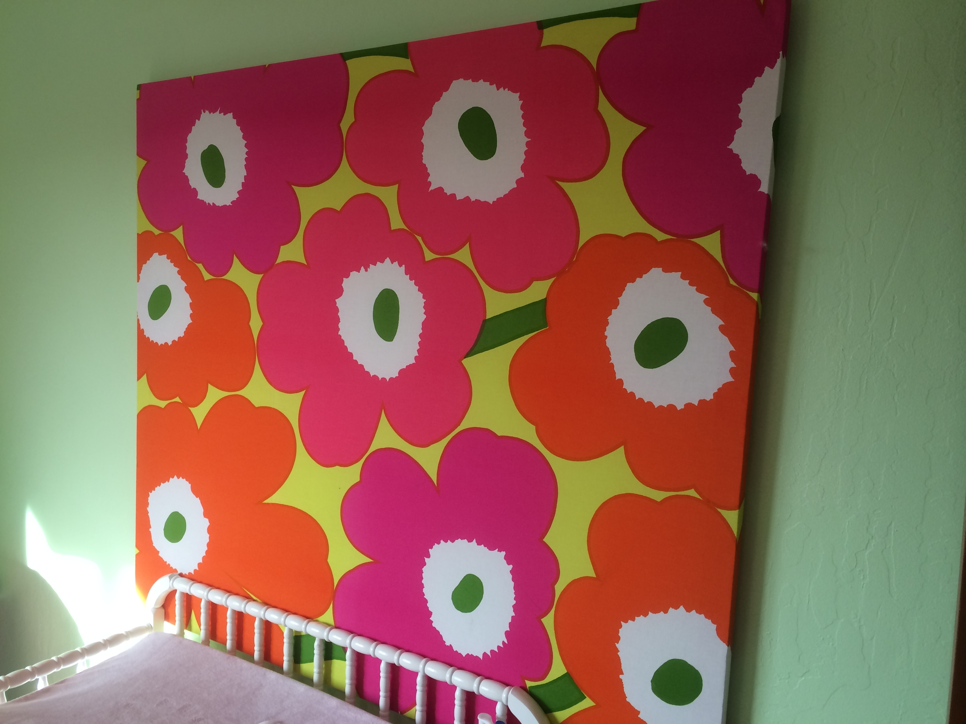 Today's Hint: Easy Diy Nursery & Playroom Wall Art – Hint Mama Pertaining To Best And Newest Marimekko Stretched Fabric Wall Art (Gallery 4 of 15)