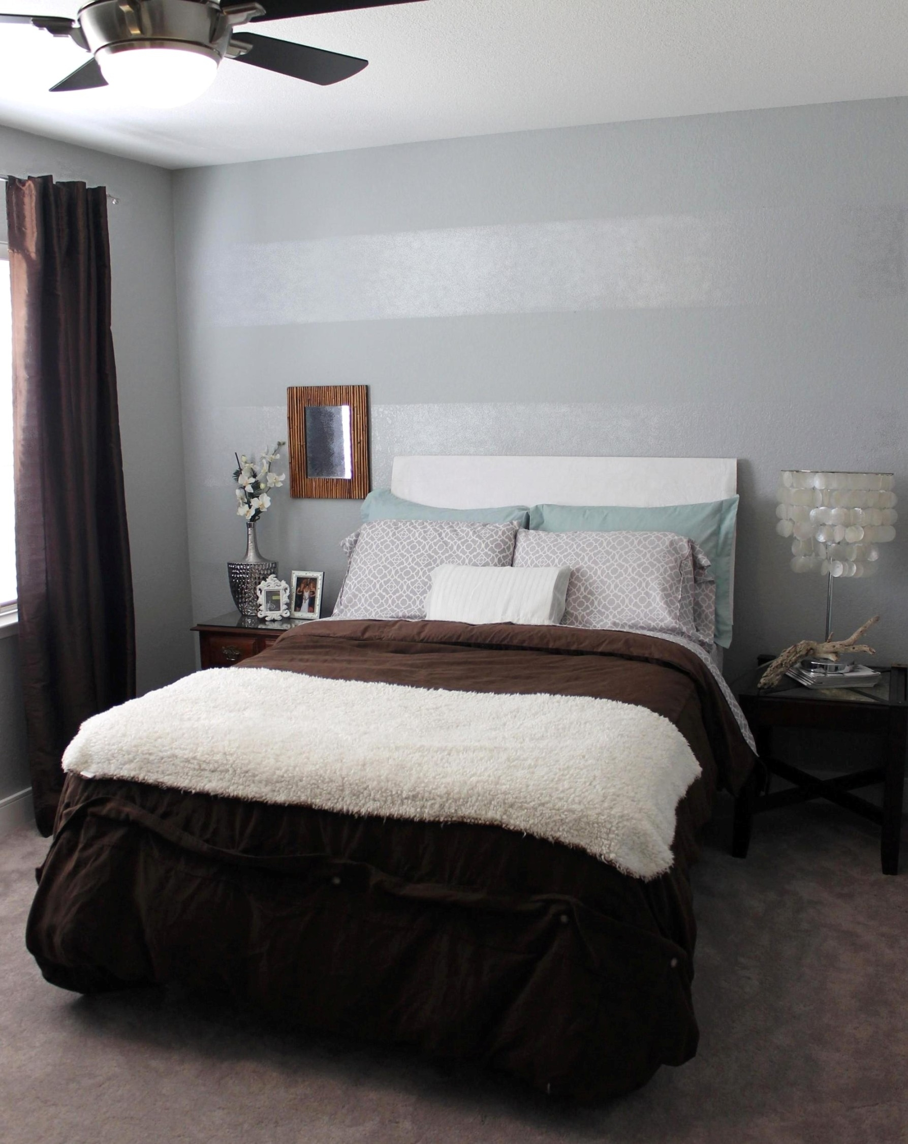 Tone On Tone Striped Accent Wall | Mrs. And The Misc (View 5 of 15)