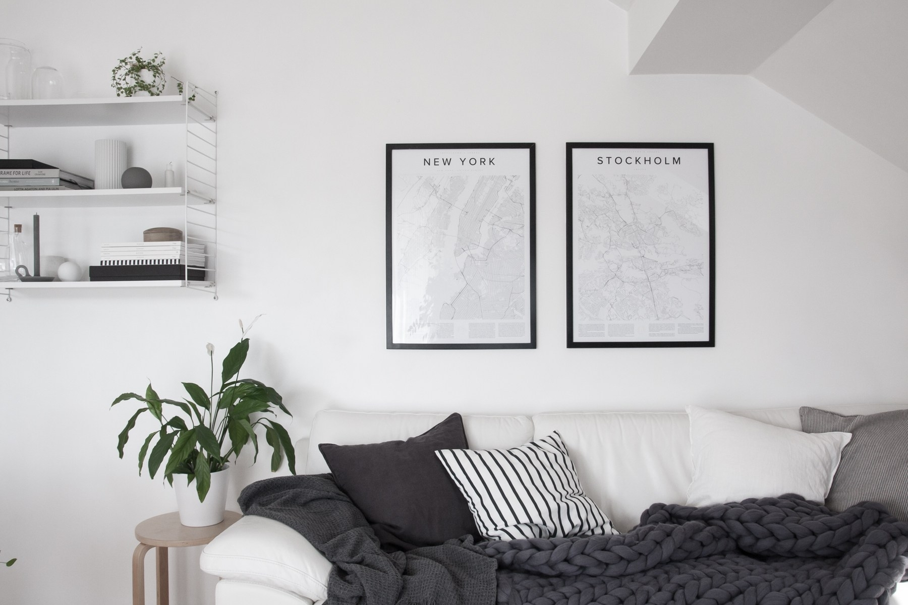 Top 10 Tips For Adding Scandinavian Style To Your Home | Happy Within Newest Grey And White Wall Accents (View 13 of 15)
