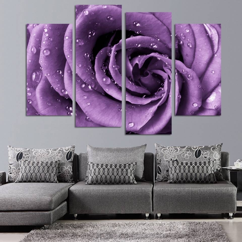 Top 20 Of Purple Wall Art Canvas For Current Canvas Wall Art In Purple (View 12 of 15)