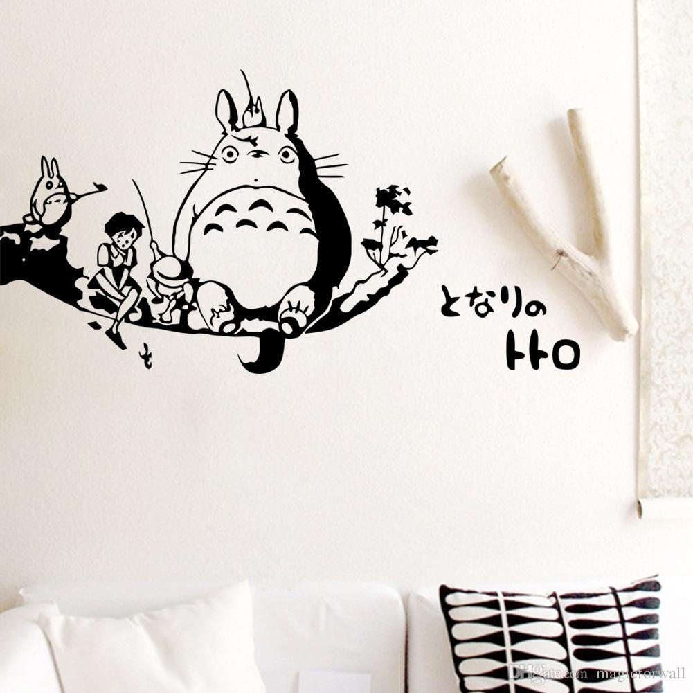 Totoro Wall Decal Sticker Kids Room Wall Decor Art Mural Poster Pertaining To Most Current Adhesive Art Wall Accents (Gallery 11 of 15)