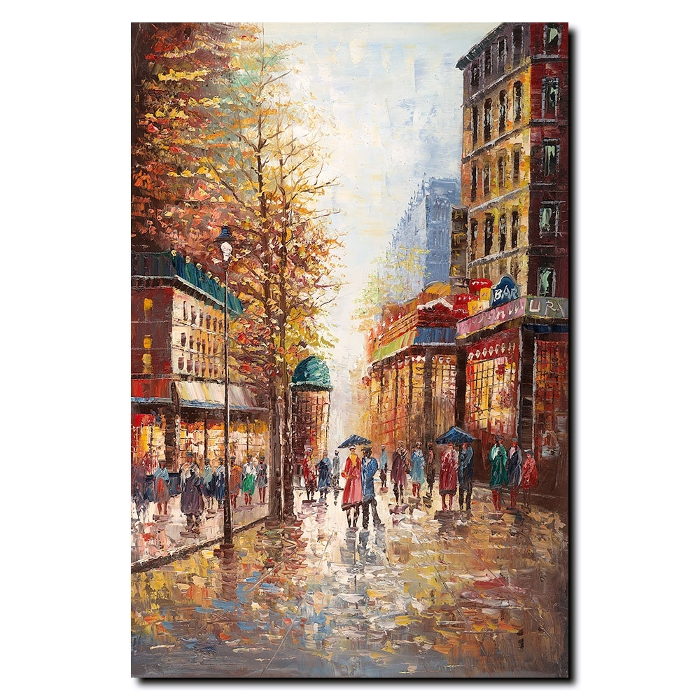 Trademark Art 'french Street Scene I'joval Painting Print On In Most Recent Joval Canvas Wall Art (View 9 of 15)