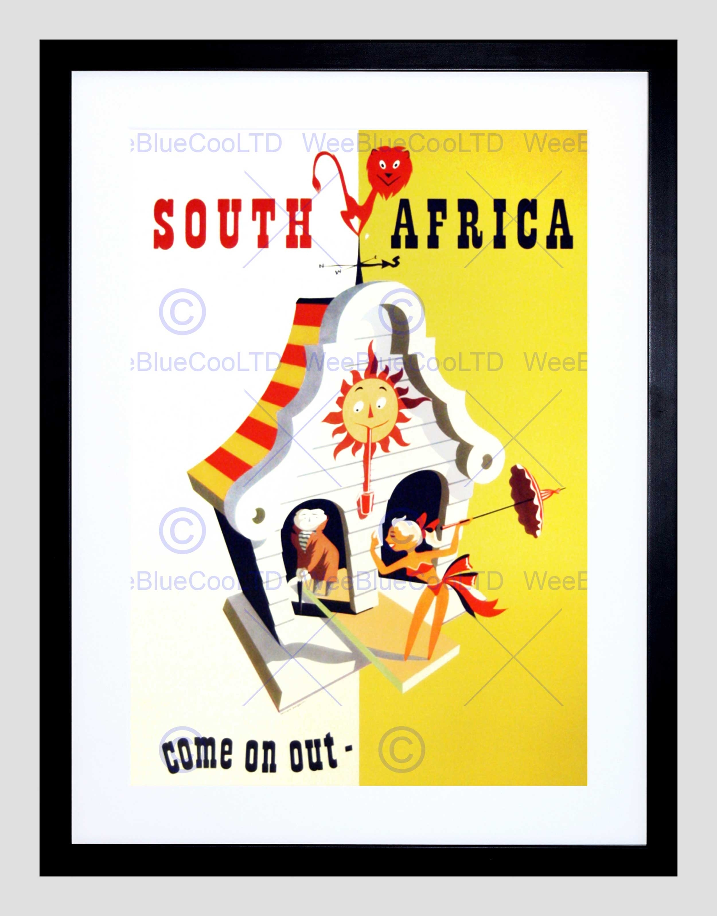 Travel South Africa Come On Out Warm Hot Sunny Framed Art Print With Most Recently Released South Africa Framed Art Prints (Gallery 11 of 15)