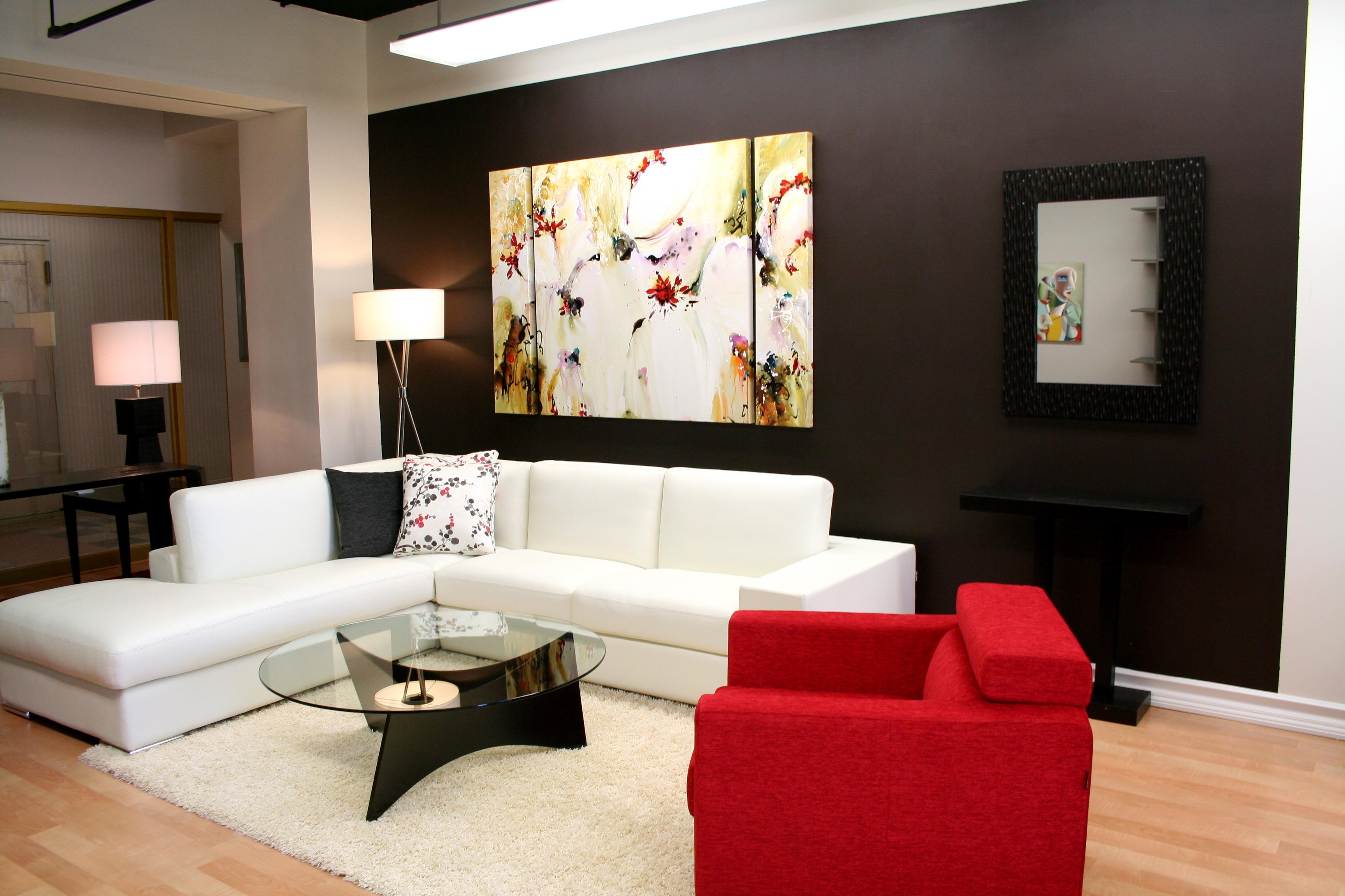 Trendy Interior For Modern Living Room With L Shape Sofa And Arm Within Most Up To Date Wall Accents For L Shaped Room (View 8 of 15)