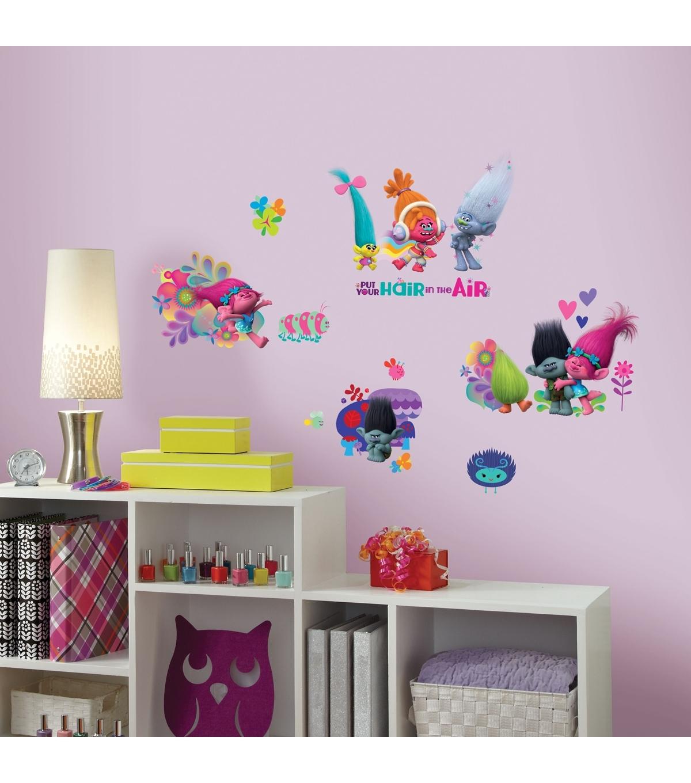 Trolls Movie Peel & Stick Wall Decals | Joann Pertaining To Current Joann Fabric Wall Art (View 6 of 15)