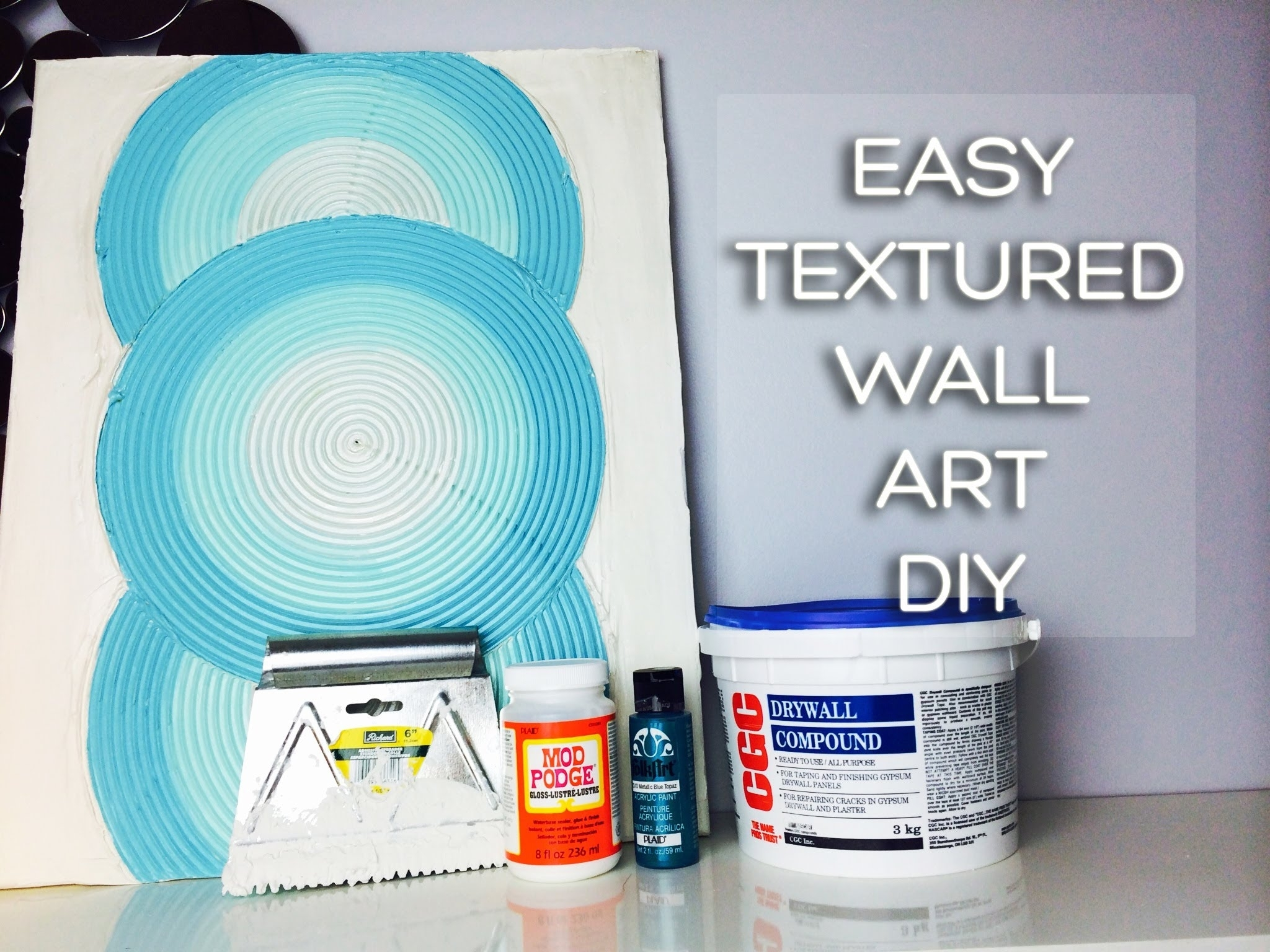 Try A New Medium  Drywall Mud Can Be Used On Canvas Or Walls For Latest Textured Fabric Wall Art (View 14 of 15)