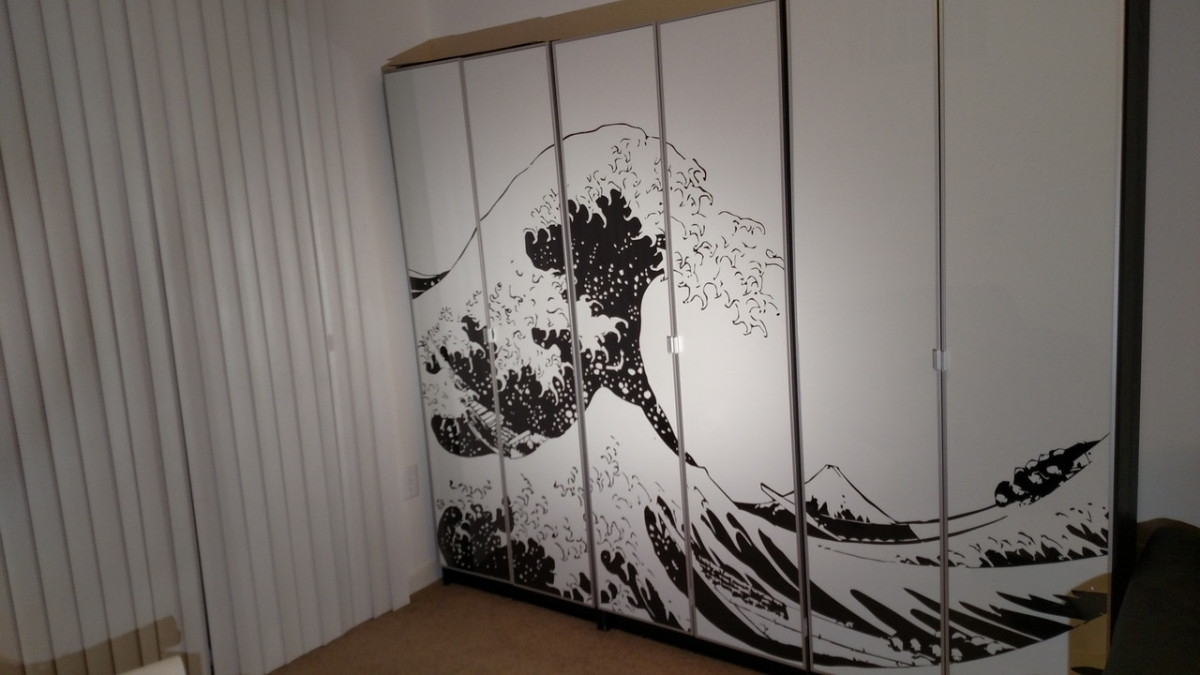 Turn Billy Bookcases Into Bold, Large Wall Art – Ikea Hackers Within Recent Ikea Fabric Wall Art (View 11 of 15)