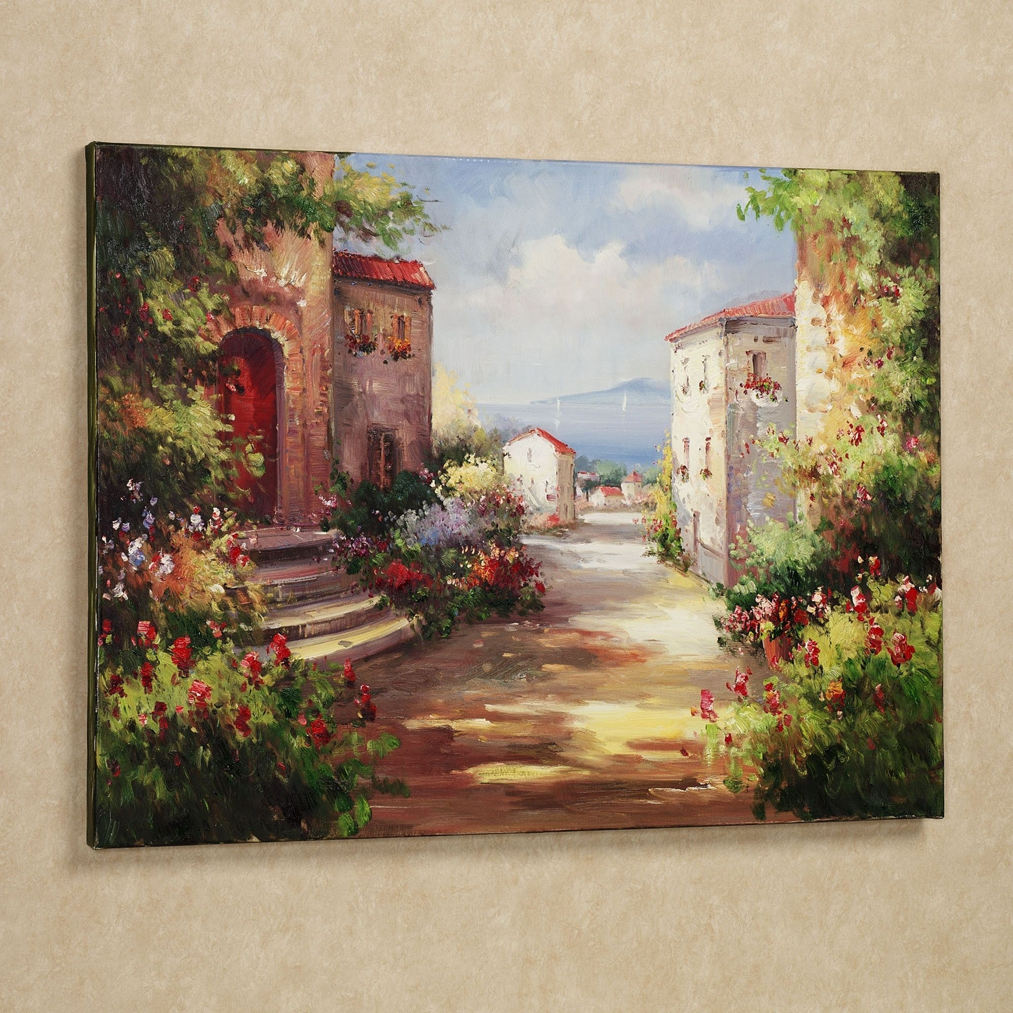 Tuscan Summer Handpainted Canvas Art | Canvases, Oil And Sketches Inside Latest Hand Painted Canvas Wall Art (Gallery 10 of 15)