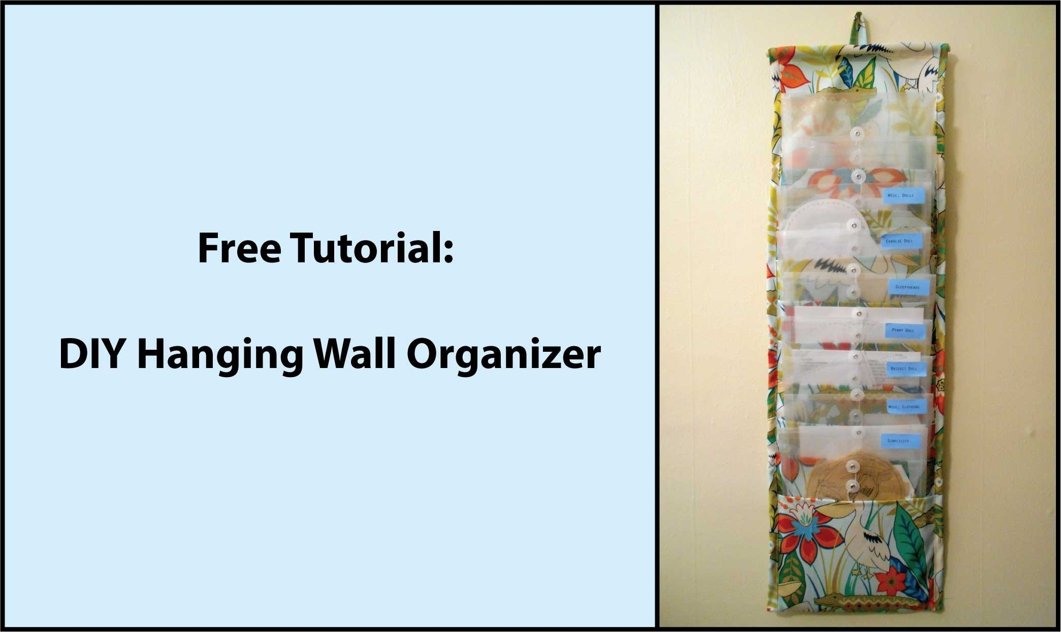 Tutorial: Diy Hanging Fabric Wall Organizer – Youtube Within Best And Newest No Sew Fabric Wall Art (View 9 of 15)