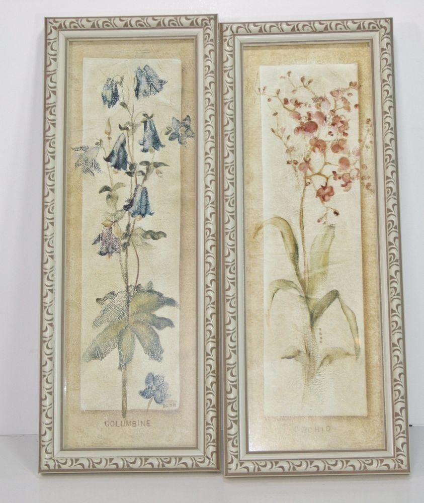 Two Decorative Cheri Blum Orchid Columbine Floral Frame Wall For Most Current Cheri Blum Framed Art Prints (View 14 of 15)